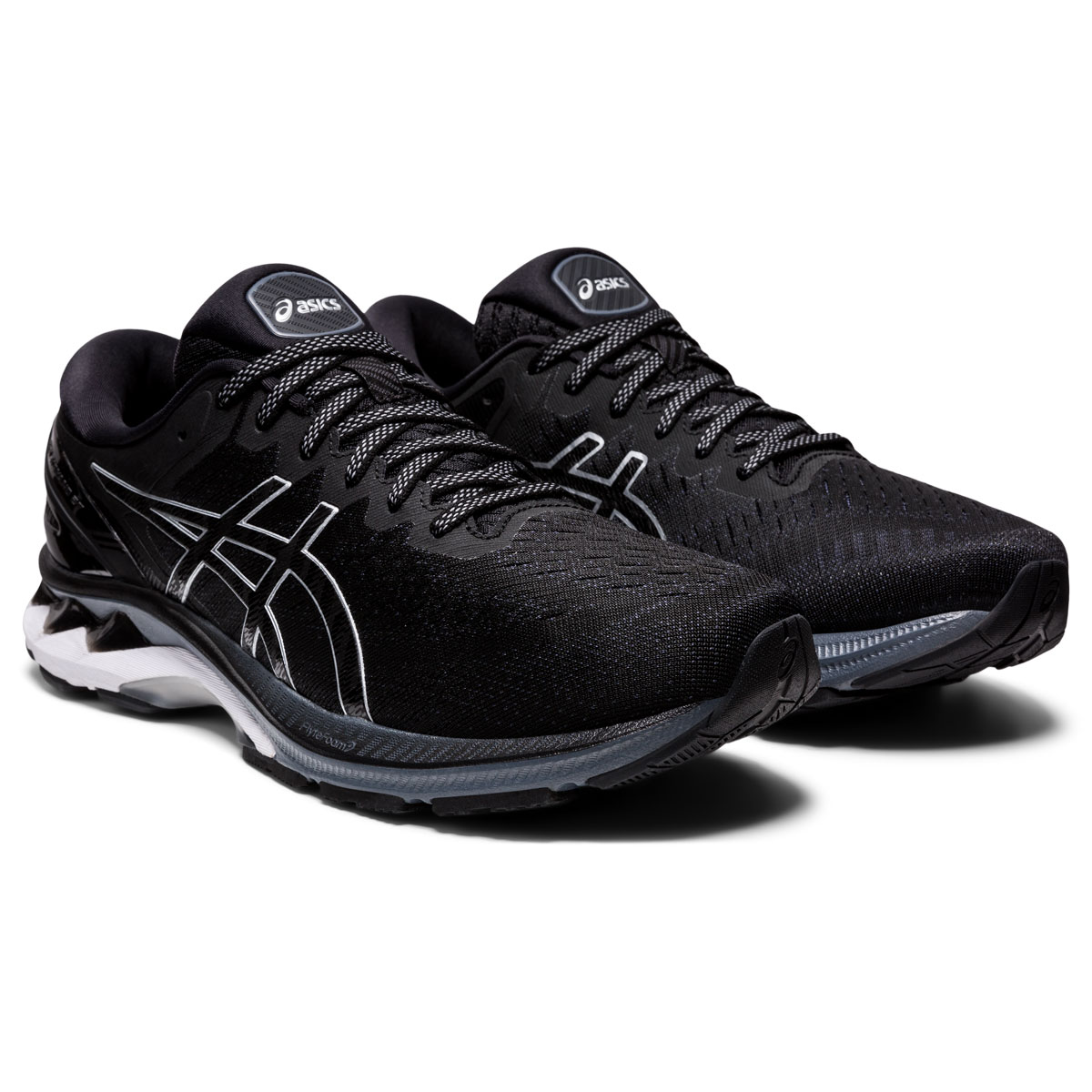 Men's Asics GEL-Kayano 27 Running Shoe - Color: Black/Pure Silv (Regular Width) - Size: 6, Black/Pure Silver, large, image 3