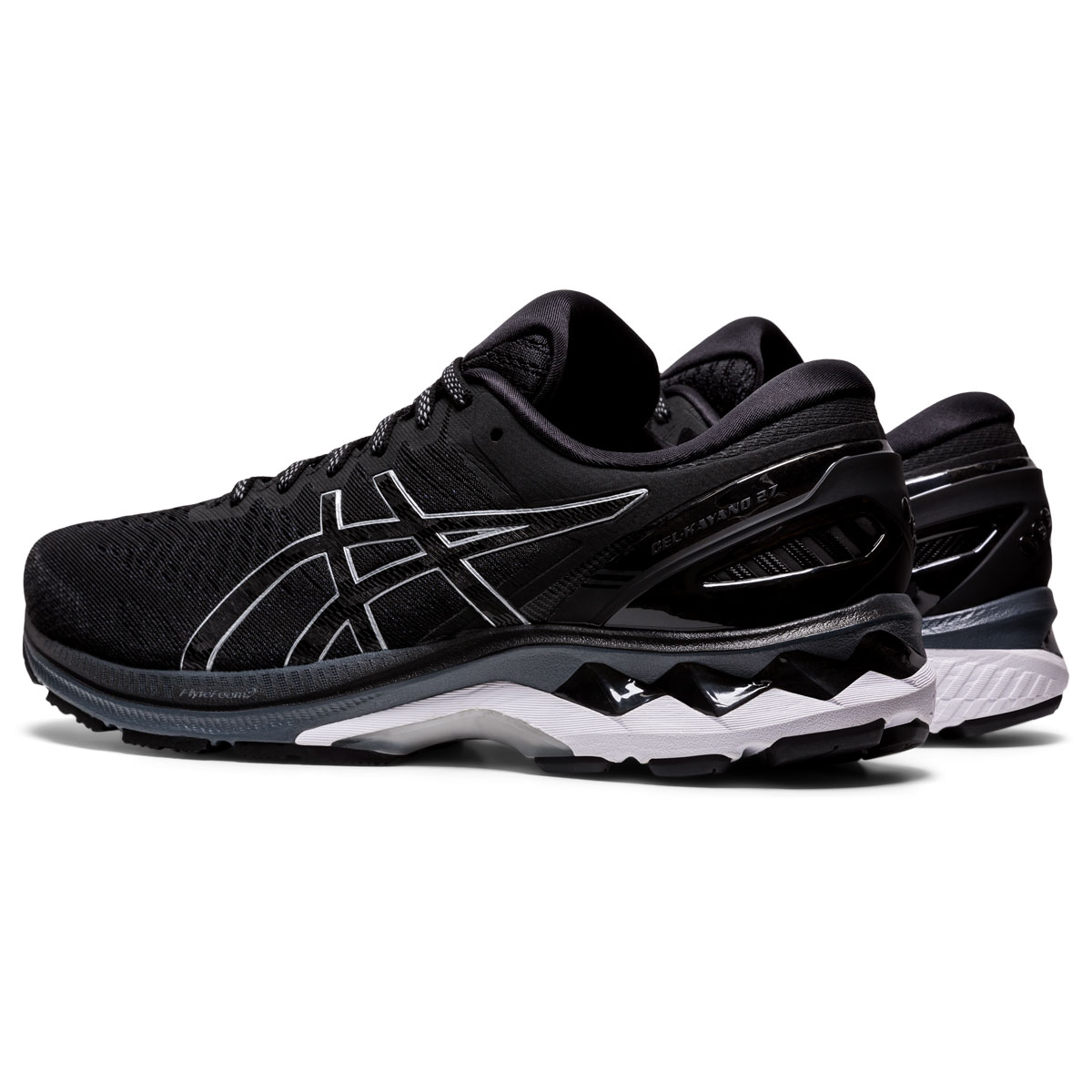 Men's Asics GEL-Kayano 27 Running Shoe - Color: Black/Pure Silv (Regular Width) - Size: 6, Black/Pure Silver, large, image 4