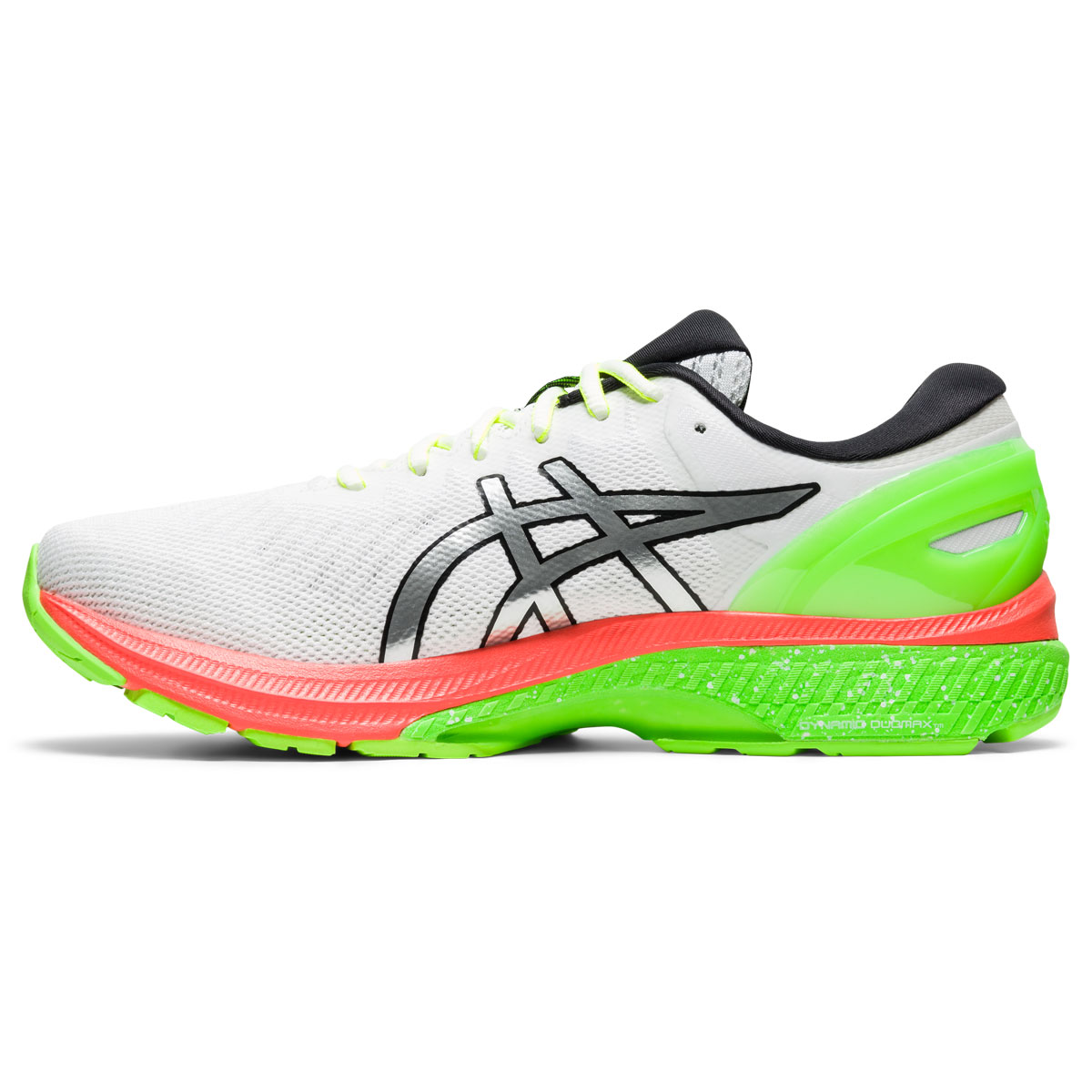 Men's Asics GEL-Kayano 27 Lite-Show Running Shoe - Color: White/Pure Silv (Regular Width) - Size: 6, White/Pure Silver, large, image 2