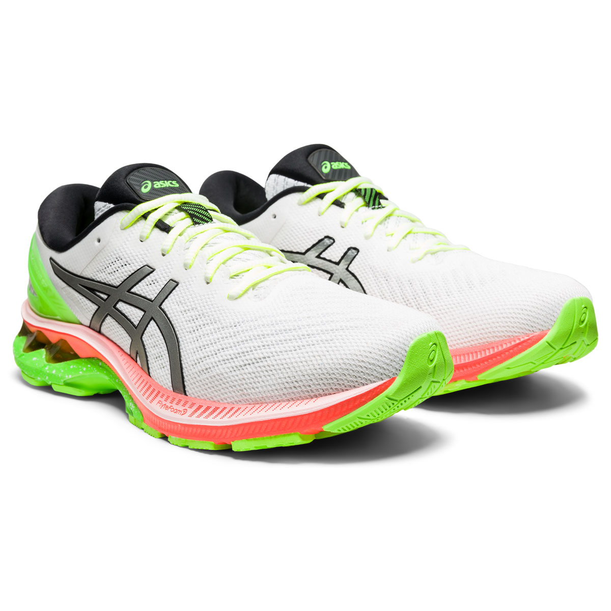 Men's Asics GEL-Kayano 27 Lite-Show Running Shoe - Color: White/Pure Silv (Regular Width) - Size: 6, White/Pure Silver, large, image 3