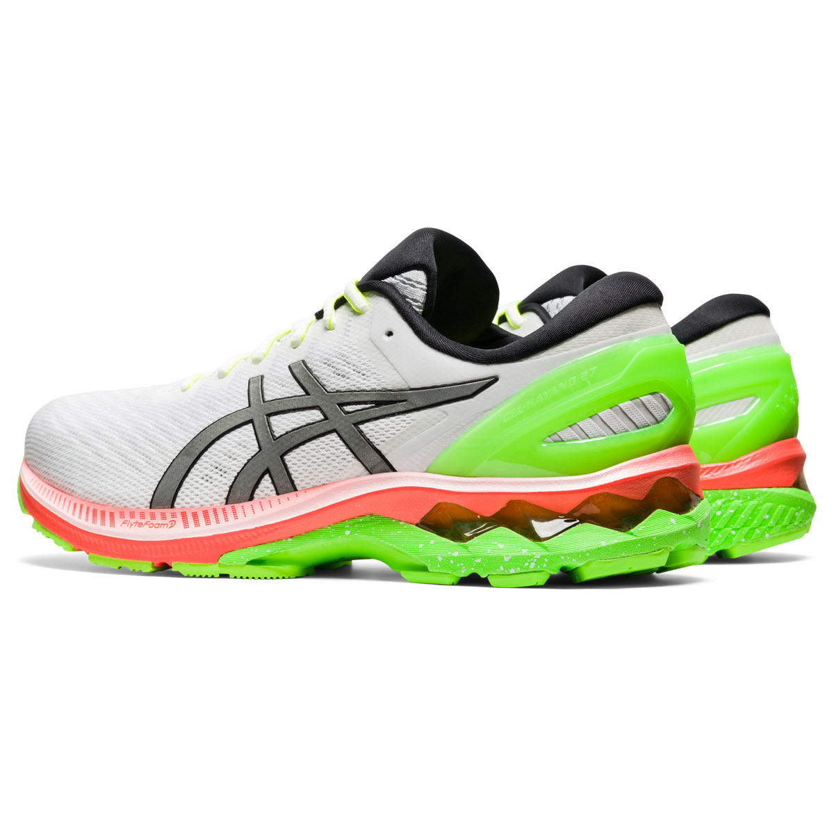 Men's Asics GEL-Kayano 27 Lite-Show Running Shoe - Color: White/Pure Silv (Regular Width) - Size: 6, White/Pure Silver, large, image 4