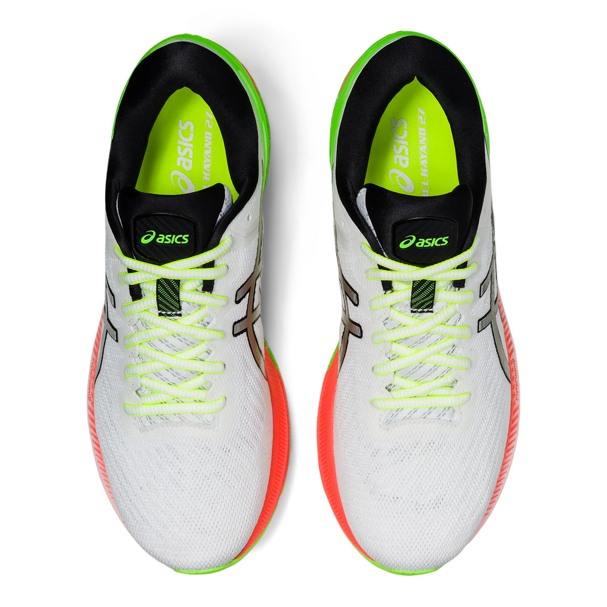Men's Asics GEL-Kayano 27 Lite-Show Running Shoe - Color: White/Pure Silv (Regular Width) - Size: 6, White/Pure Silver, large, image 6