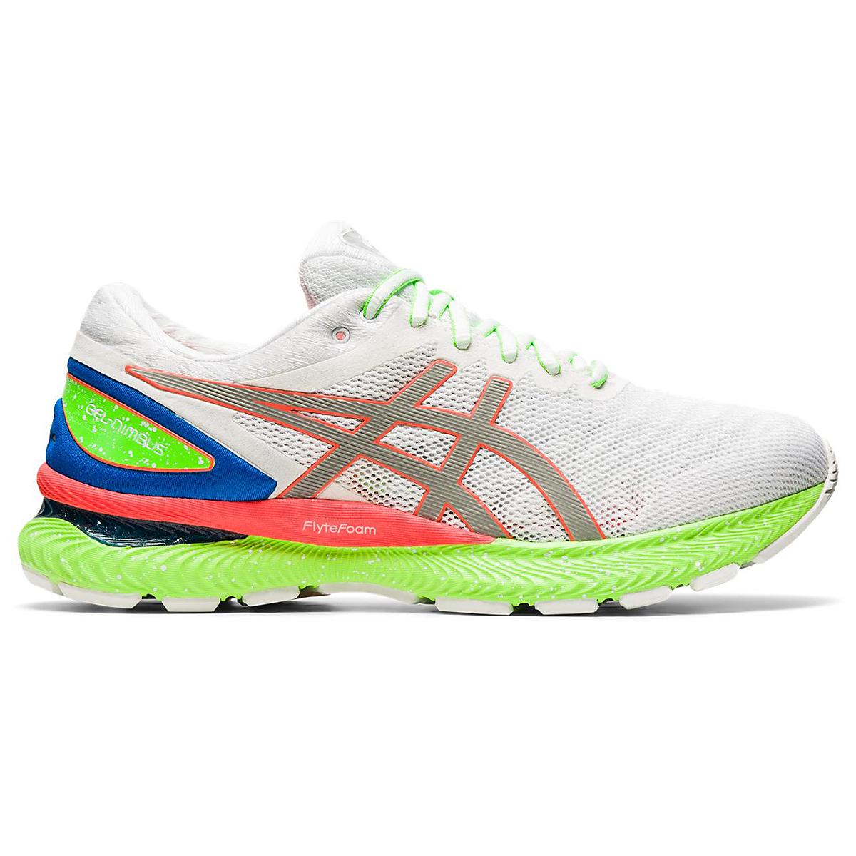 Men's Asics Gel-Nimbus 22 Running Shoe - Color: White/Sunrise Red - Size: 6 - Width: Regular, White/Sunrise Red, large, image 1