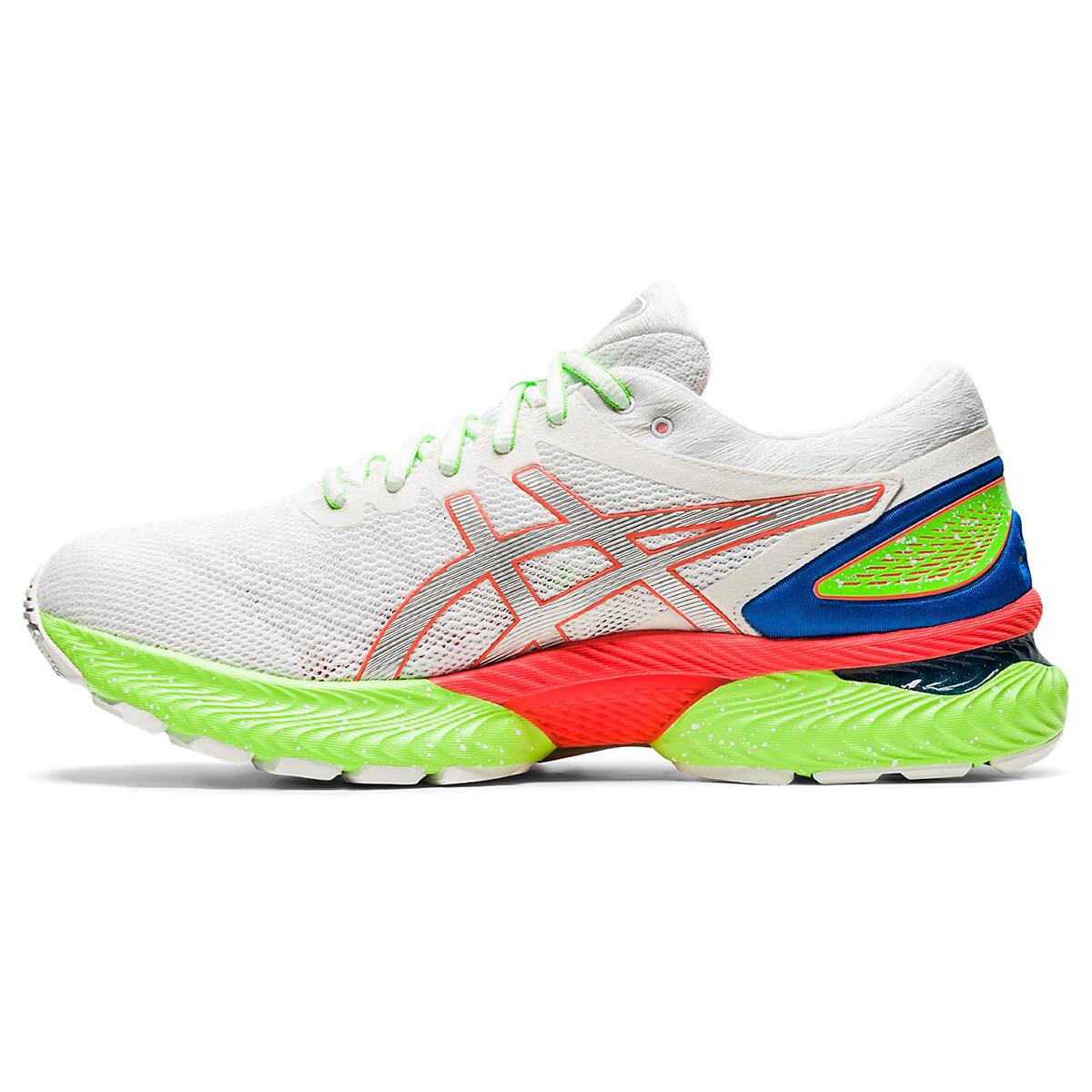 Men's Asics Gel-Nimbus 22 Running Shoe - Color: White/Sunrise Red - Size: 6 - Width: Regular, White/Sunrise Red, large, image 2