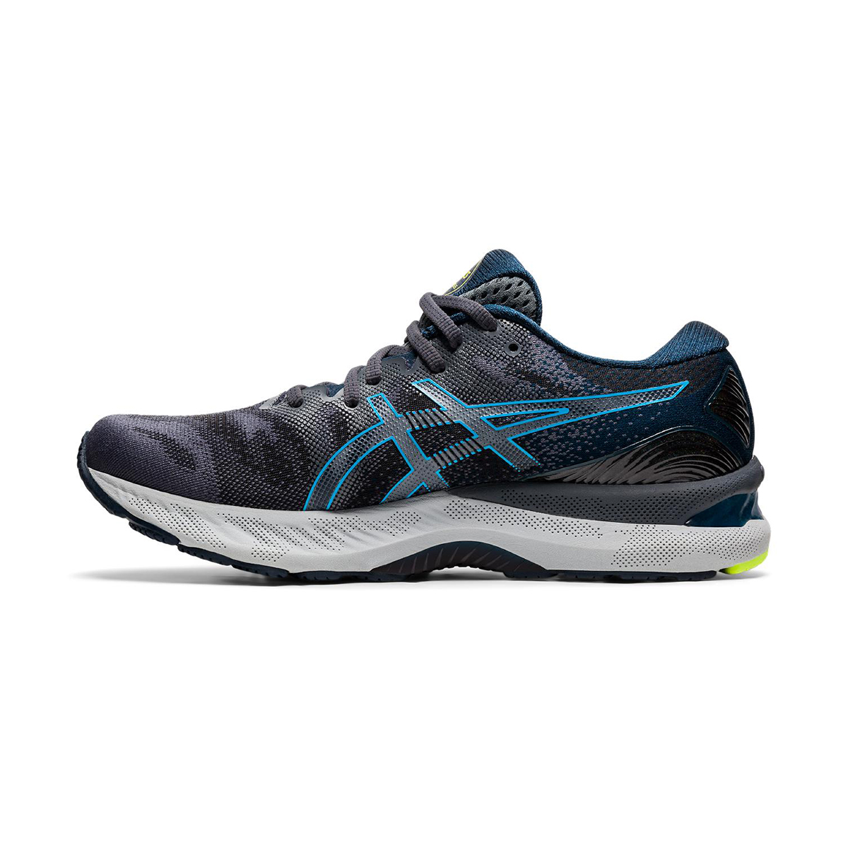 Men's Asics GEL-Nimbus 23 Running Shoe - Color: Carrier Grey/Digital Aqua - Size: 8.5 - Width: Regular, Carrier Grey/Digital Aqua, large, image 2
