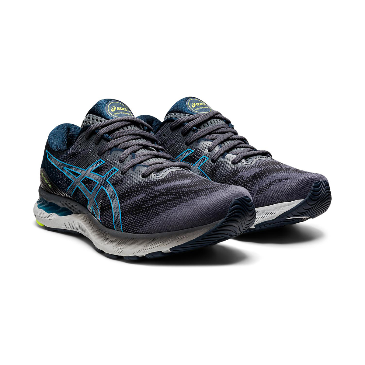 Men's Asics GEL-Nimbus 23 Running Shoe - Color: Carrier Grey/Digital Aqua - Size: 8.5 - Width: Regular, Carrier Grey/Digital Aqua, large, image 3