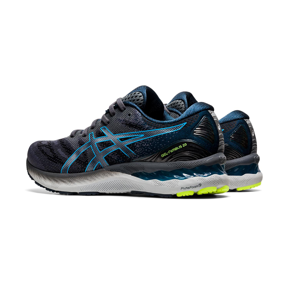 Men's Asics GEL-Nimbus 23 Running Shoe - Color: Carrier Grey/Digital Aqua - Size: 8.5 - Width: Regular, Carrier Grey/Digital Aqua, large, image 4