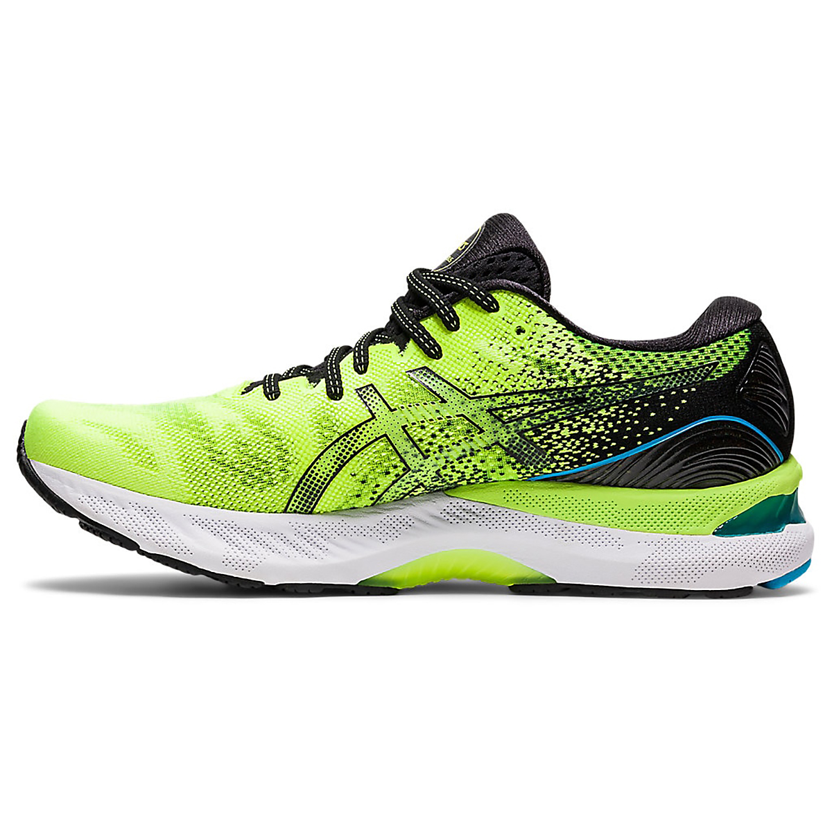 Men's Asics Gel-Nimbus 23 Running Shoe - Color: Hazard Green/Black - Size: 7 - Width: Regular, Hazard Green/Black, large, image 2