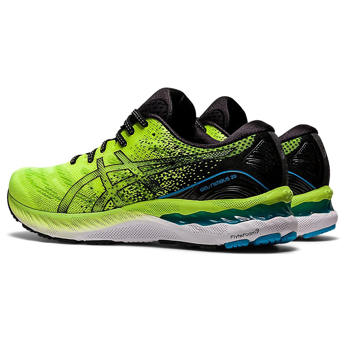 Men's Asics Gel-Nimbus 23 Running Shoe - Color: Hazard Green/Black - Size: 7 - Width: Regular, Hazard Green/Black, large, image 5