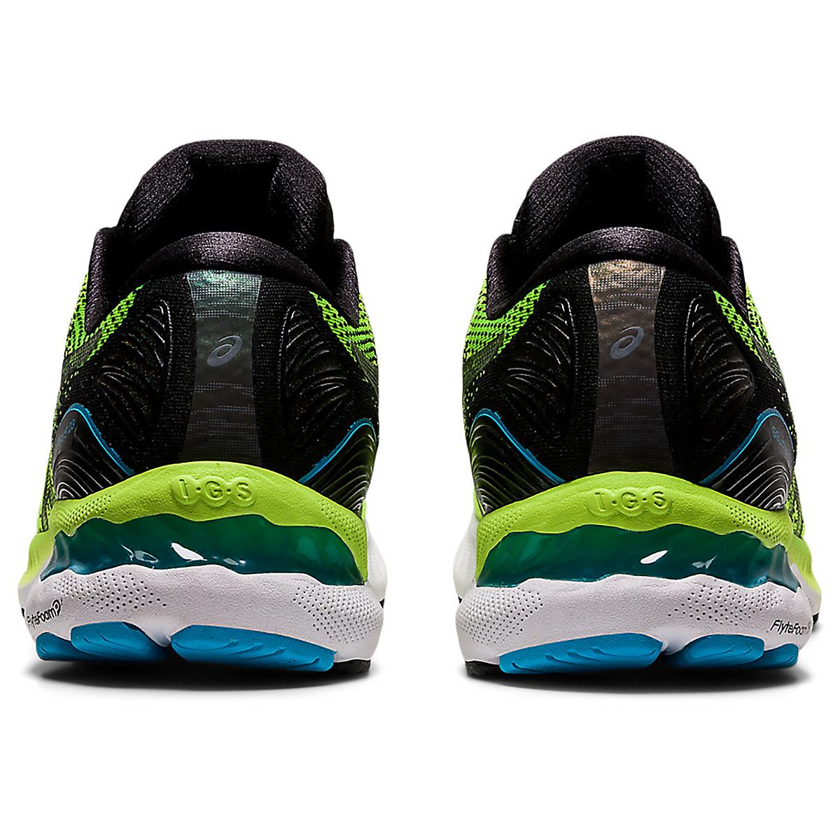 Men's Asics Gel-Nimbus 23 Running Shoe - Color: Hazard Green/Black - Size: 7 - Width: Regular, Hazard Green/Black, large, image 6