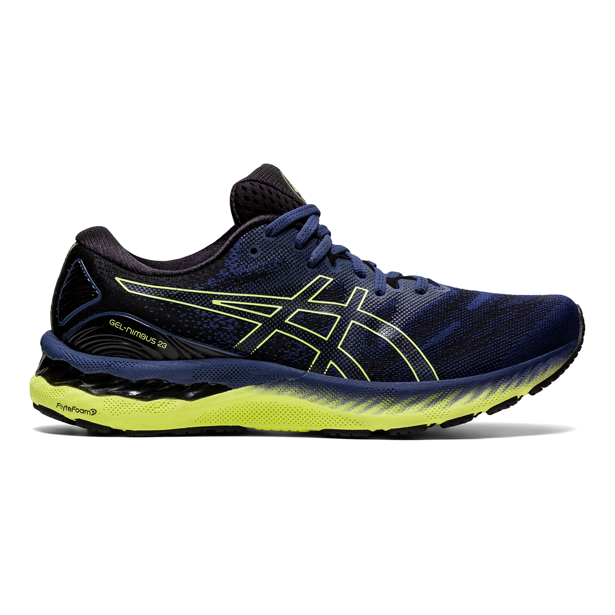 Men's Asics Gel-Nimbus 23 Running Shoe - Color: Thunder Blue - Size: 7 - Width: Regular, Thunder Blue, large, image 1