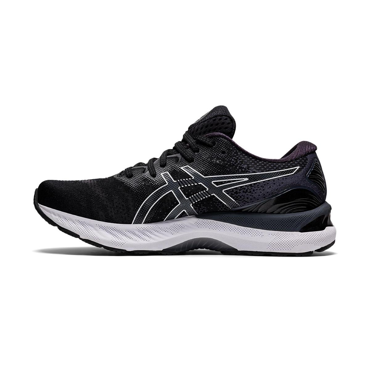 Men's Asics GEL-Nimbus 23 Running Shoe - Color: Black/White - Size: 7 - Width: Regular, Black/White, large, image 2