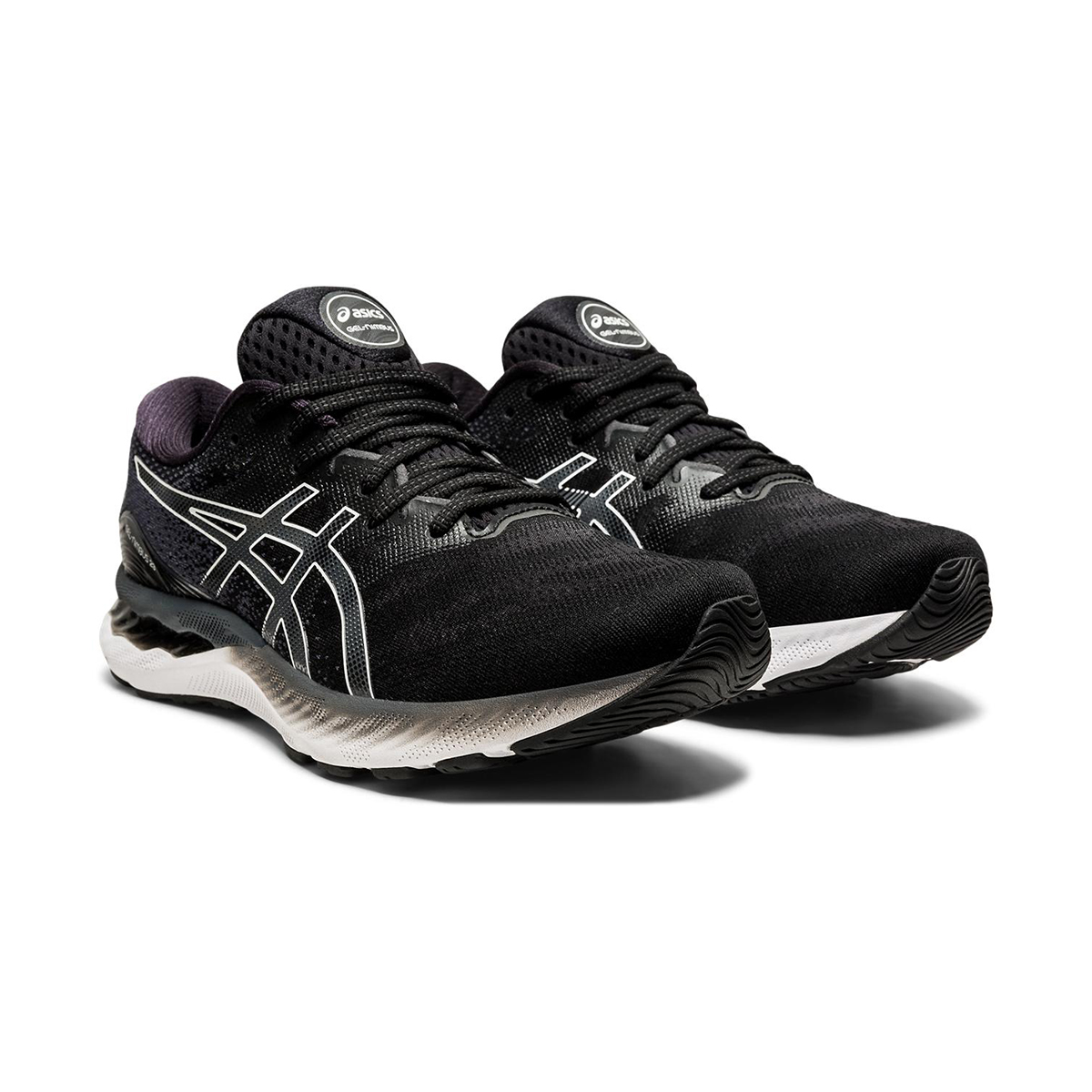 Men's Asics GEL-Nimbus 23 Running Shoe - Color: Black/White - Size: 7 - Width: Regular, Black/White, large, image 3