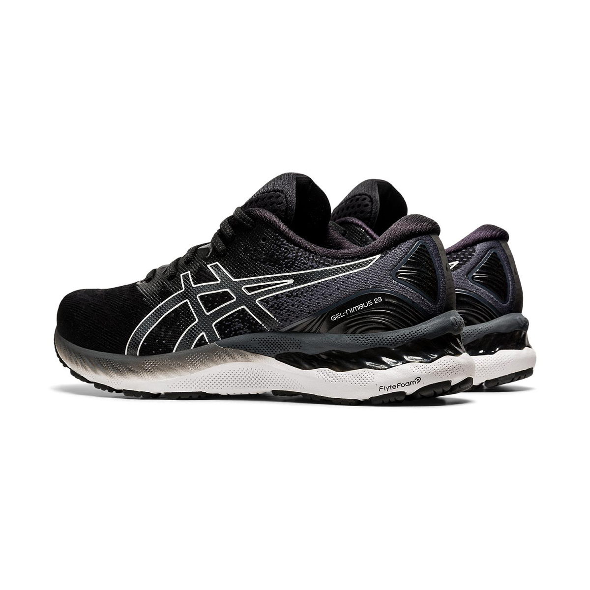 Men's Asics GEL-Nimbus 23 Running Shoe - Color: Black/White - Size: 7 - Width: Regular, Black/White, large, image 4
