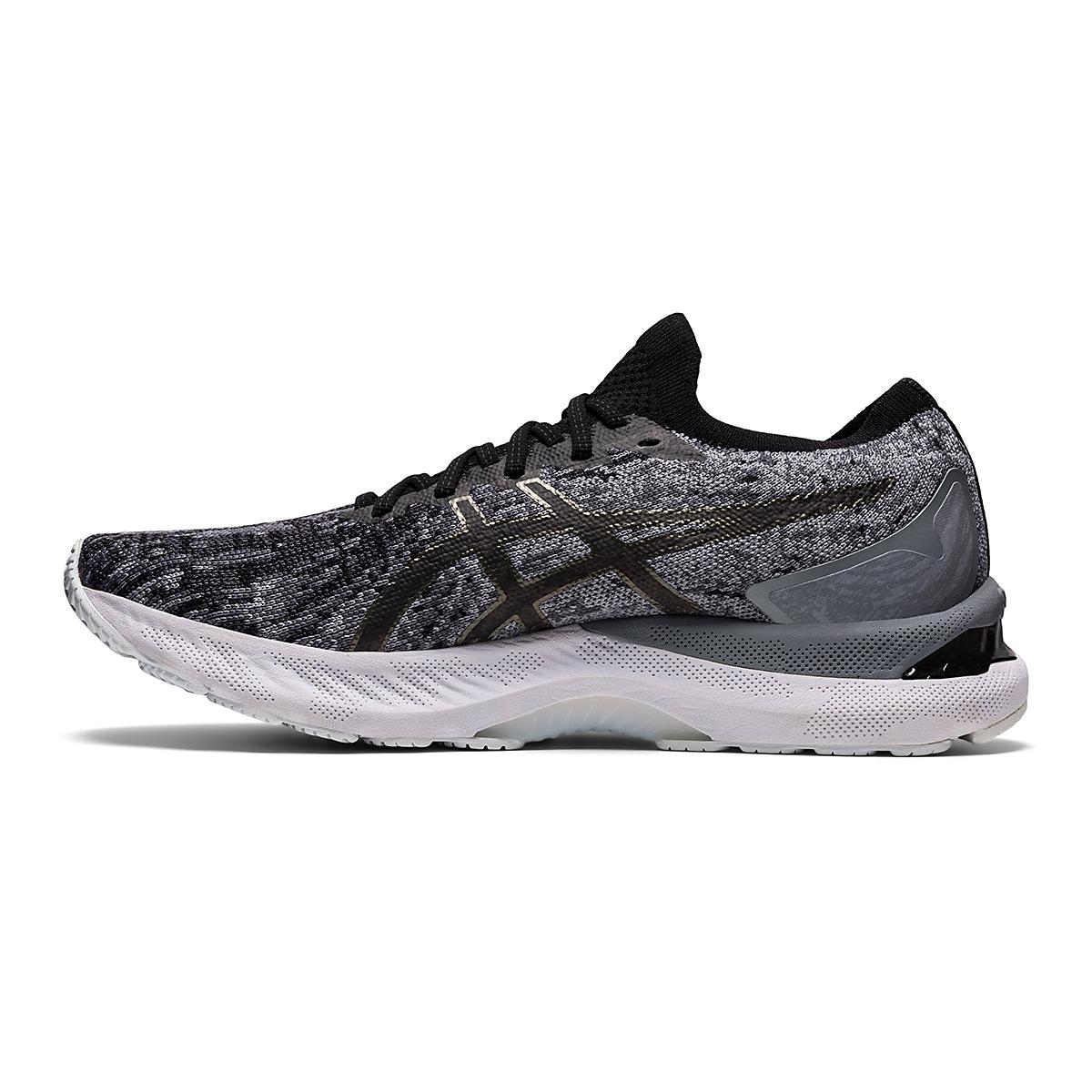 Men's Asics Gel-Nimbus 23 Knit Running Shoe - Color: Sheet Rock/Black - Size: 7 - Width: Regular, Sheet Rock/Black, large, image 2