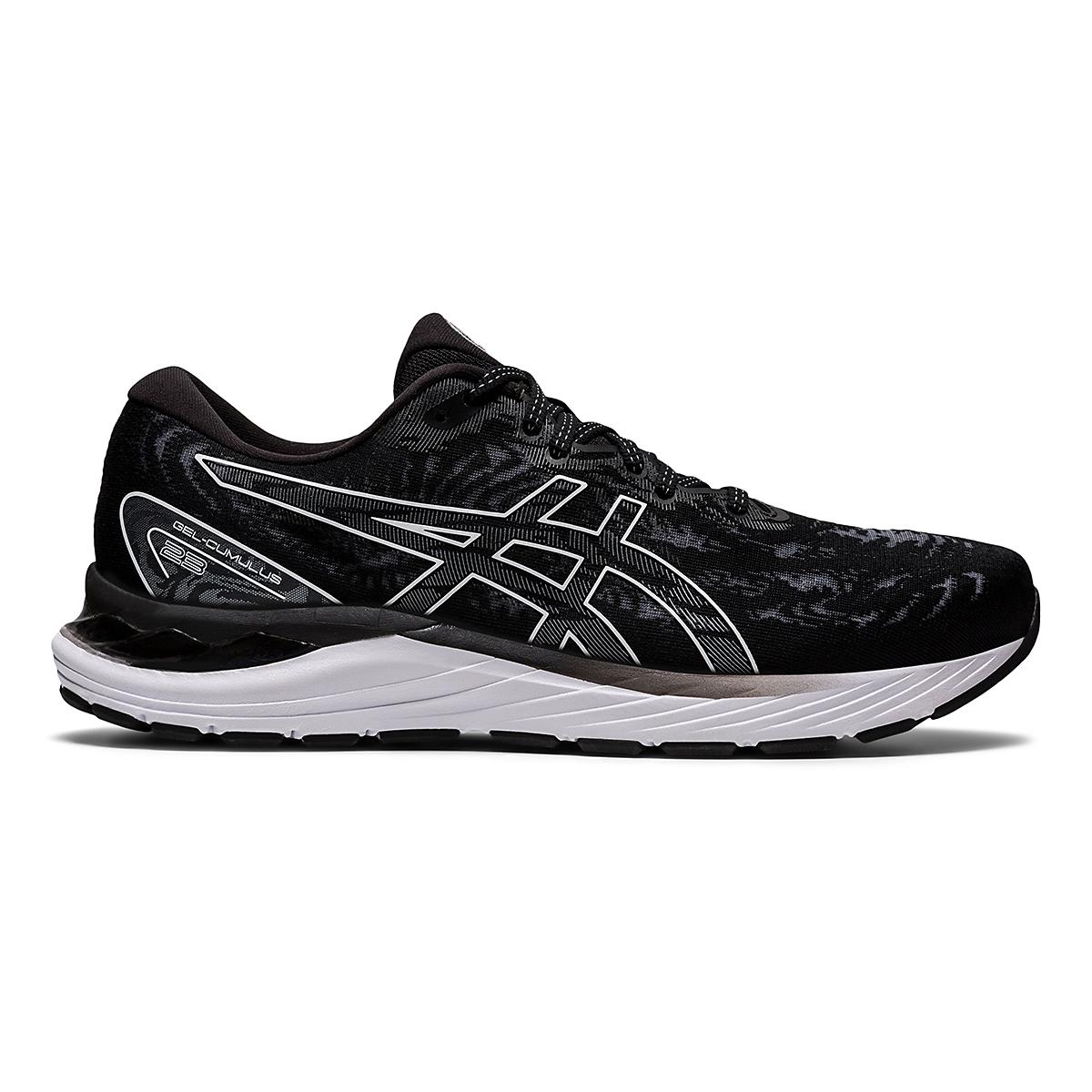 Men's Asics Gel-Cumulus 23 Running Shoe - Color: Black/White - Size: 7 - Width: Regular, Black/White, large, image 1