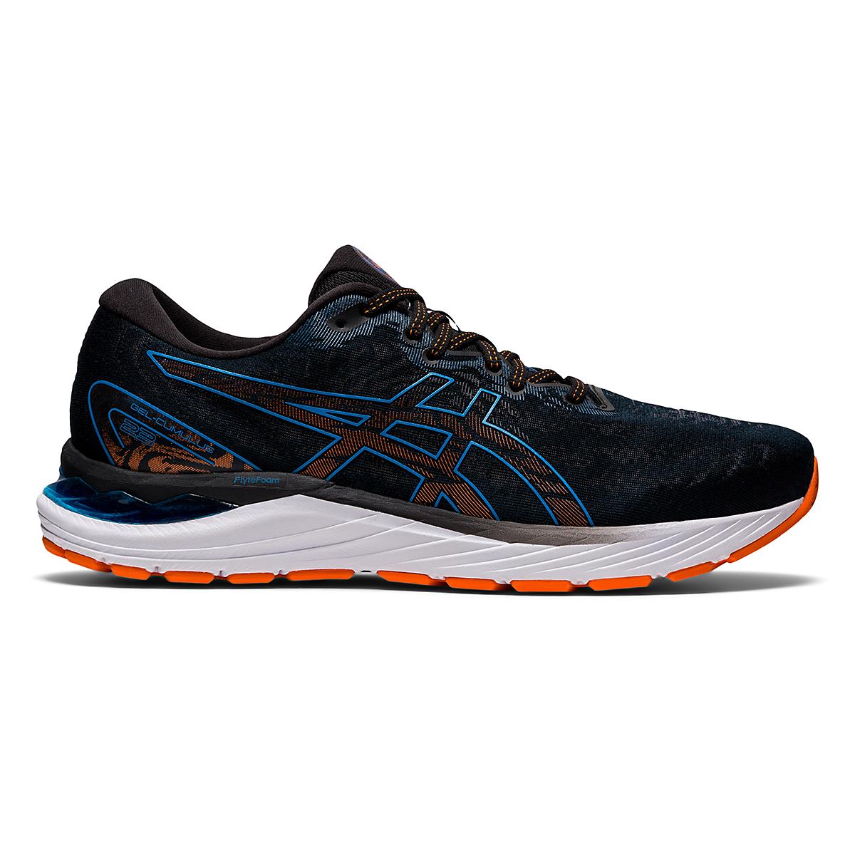 Men's Asics Gel-Cumulus 23 Running Shoe - Color: Black/Reborn Blue - Size: 6.5 - Width: Regular, Black/Reborn Blue, large, image 1