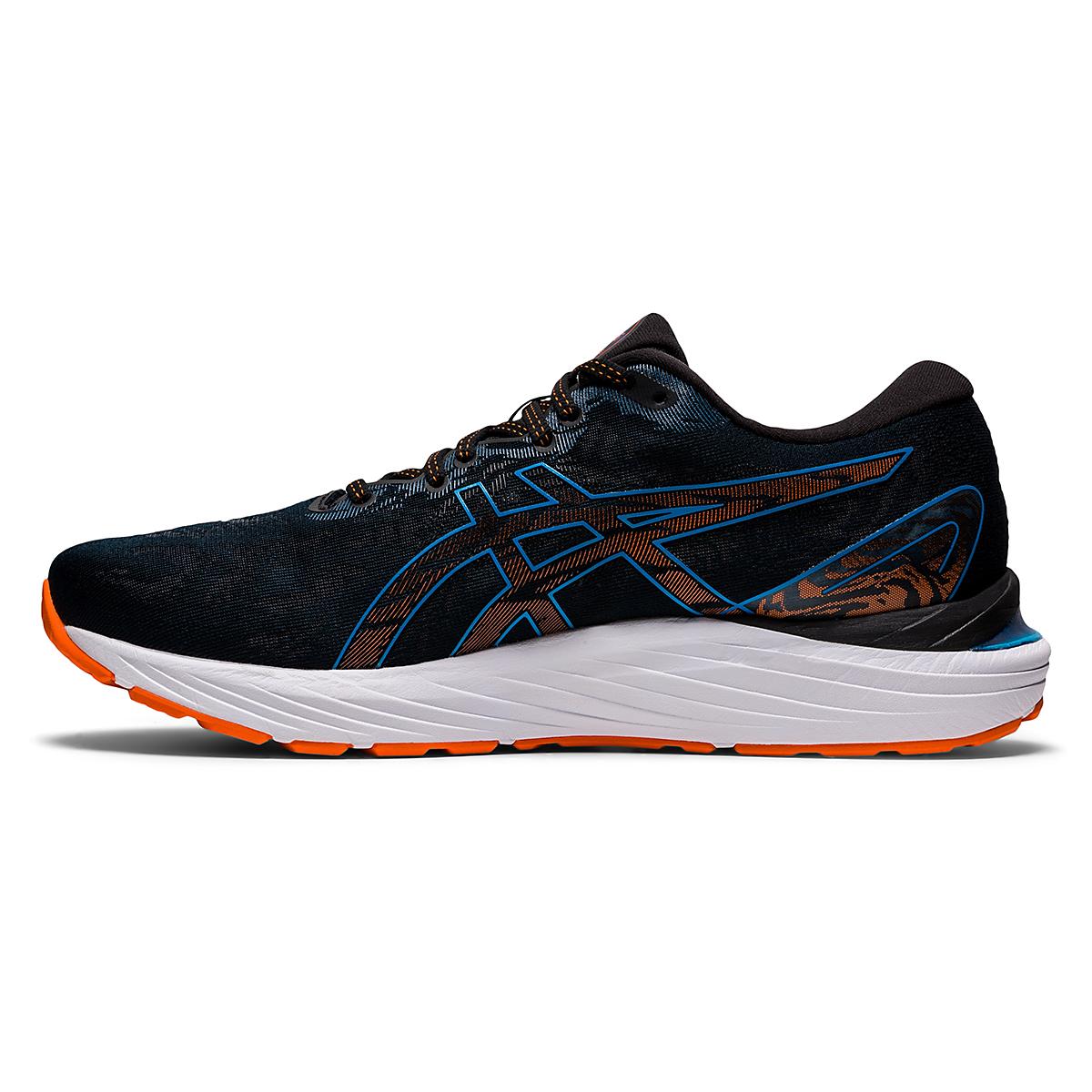 Men's Asics Gel-Cumulus 23 Running Shoe - Color: Black/Reborn Blue - Size: 6.5 - Width: Regular, Black/Reborn Blue, large, image 2