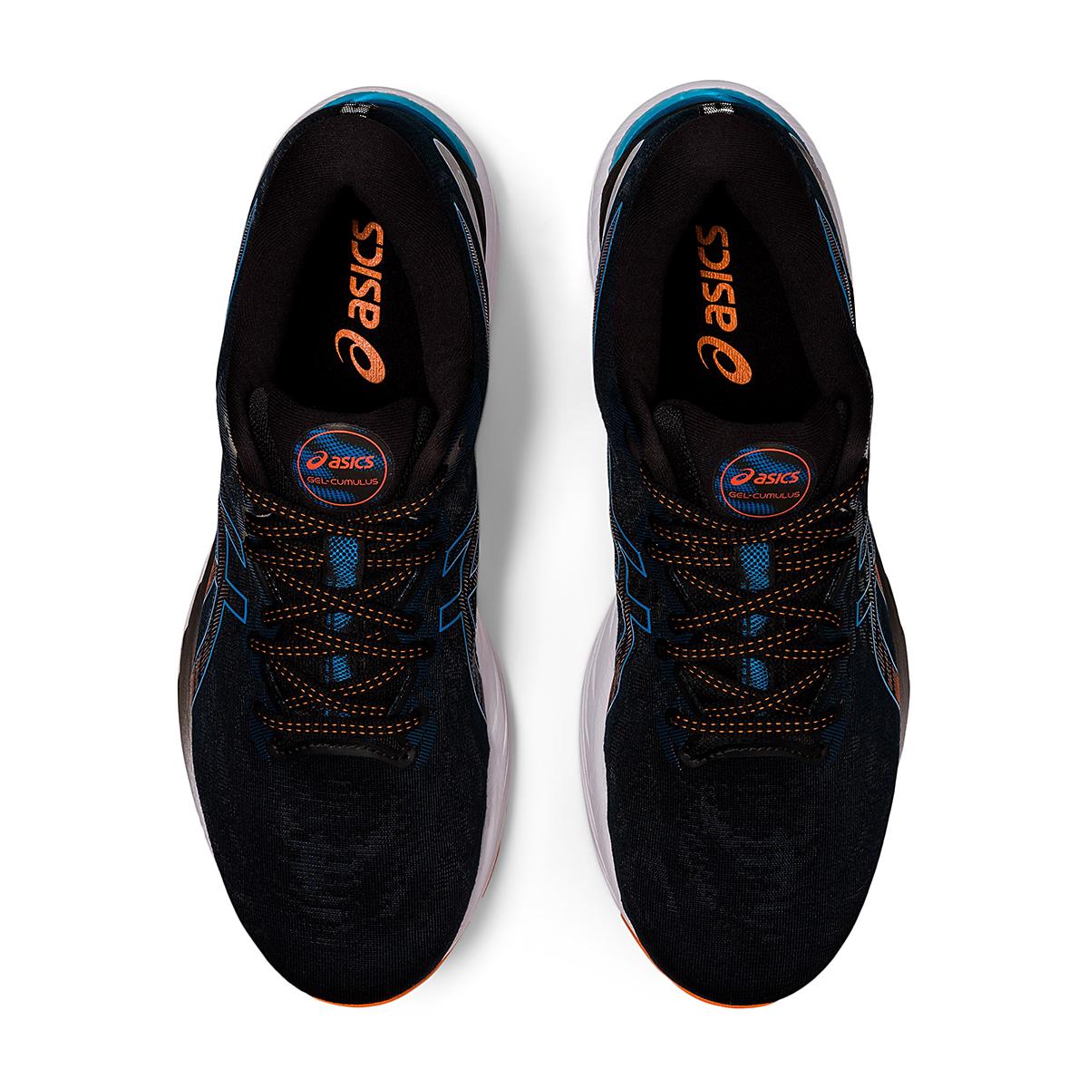 Men's Asics Gel-Cumulus 23 Running Shoe - Color: Black/Reborn Blue - Size: 6.5 - Width: Regular, Black/Reborn Blue, large, image 3