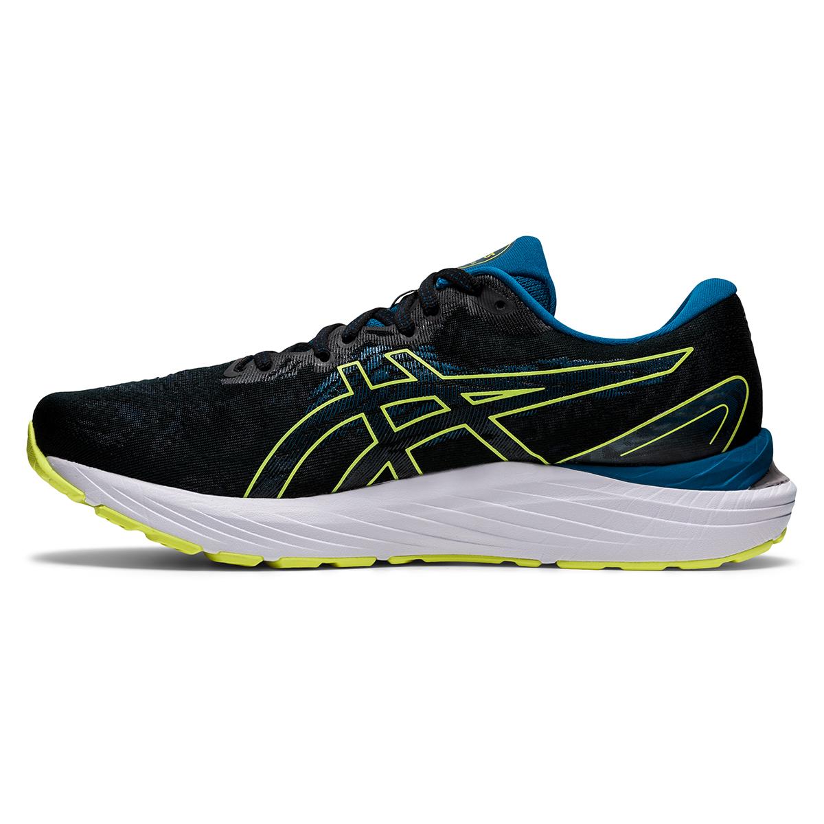 Men's Asics Gel-Cumulus 23 Running Shoe - Color: Black/Glow Yellow - Size: 7 - Width: Regular, Black/Glow Yellow, large, image 2