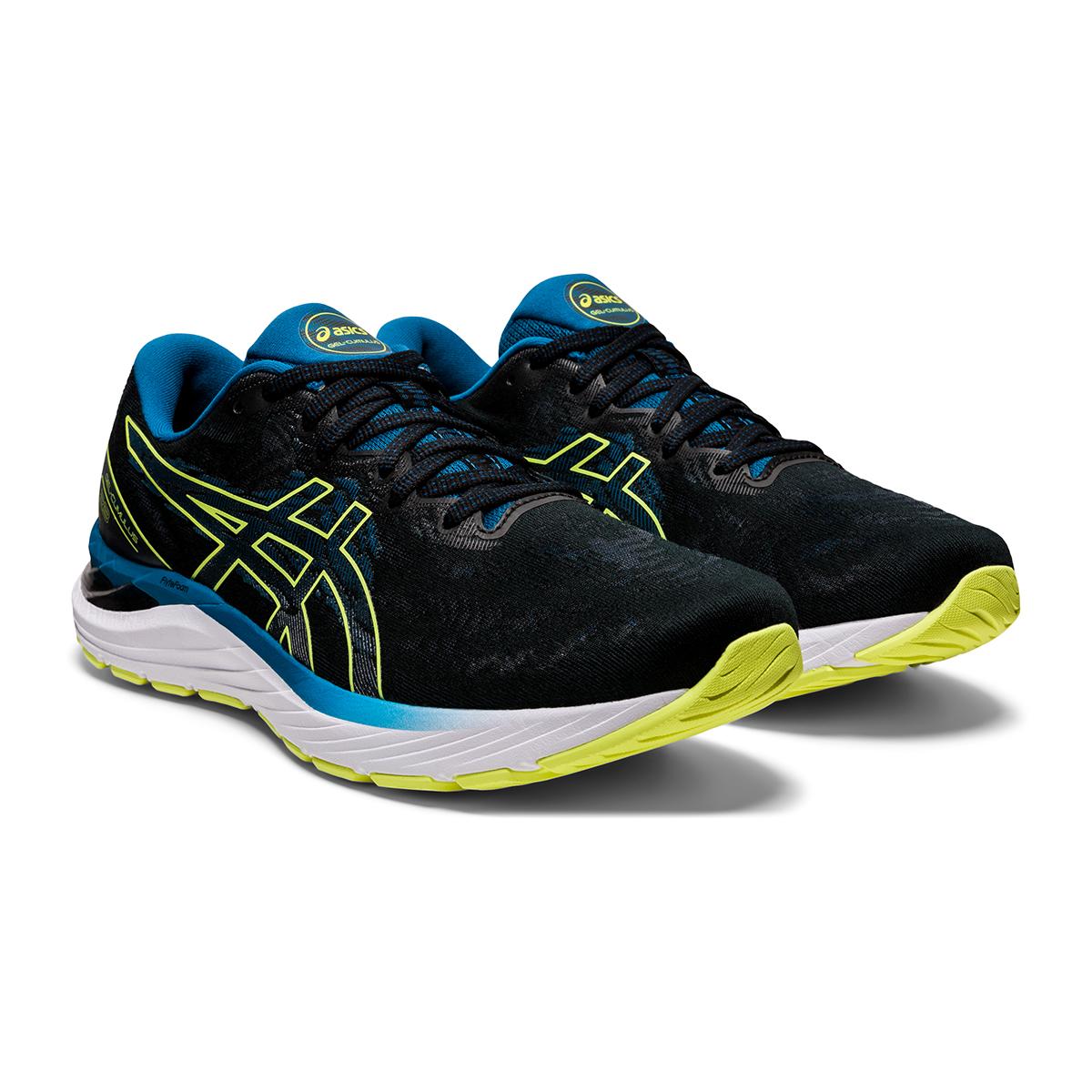 Men's Asics Gel-Cumulus 23 Running Shoe - Color: Black/Glow Yellow - Size: 7 - Width: Regular, Black/Glow Yellow, large, image 3