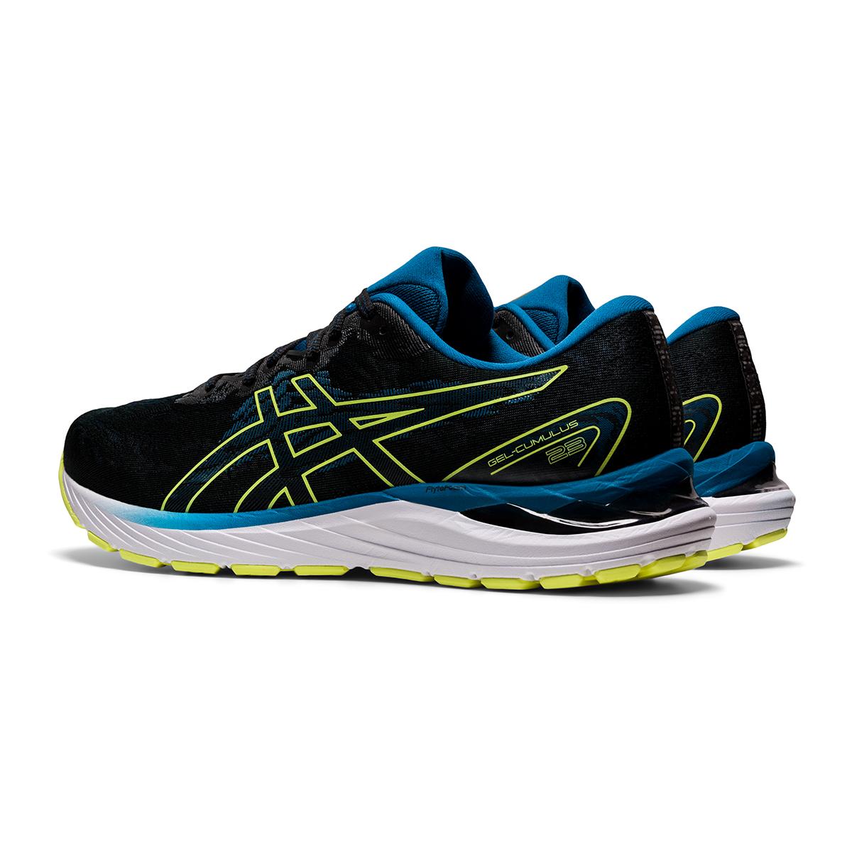 Men's Asics Gel-Cumulus 23 Running Shoe - Color: Black/Glow Yellow - Size: 7 - Width: Regular, Black/Glow Yellow, large, image 4