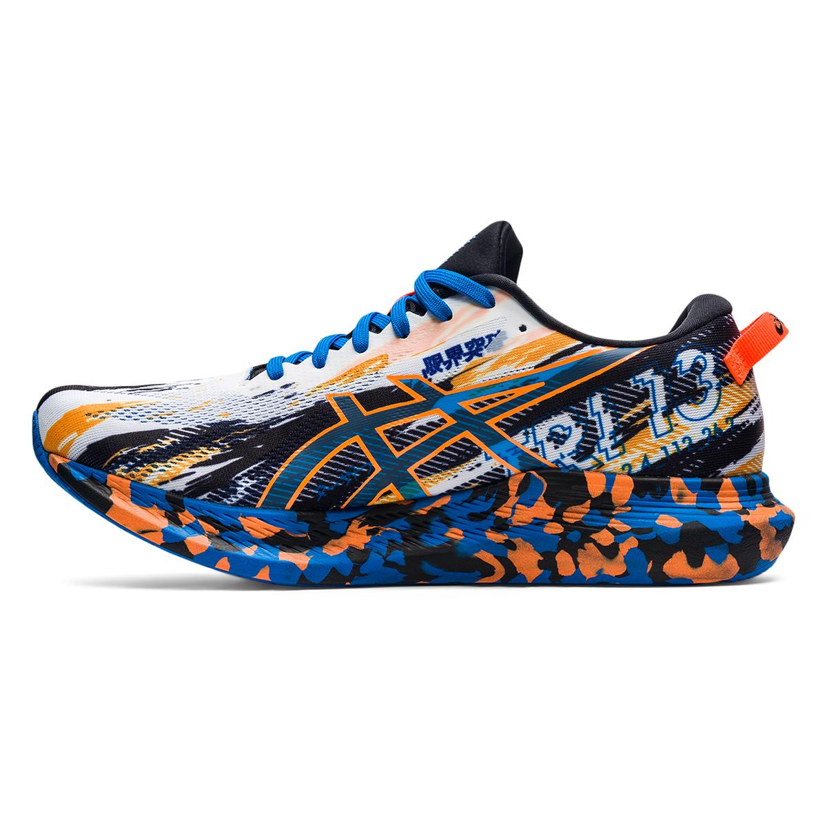 Men's Asics Noosa Tri 13 Running Shoe - Color: White/Shocking - Size: 7 - Width: Regular, White/Shocking, large, image 2