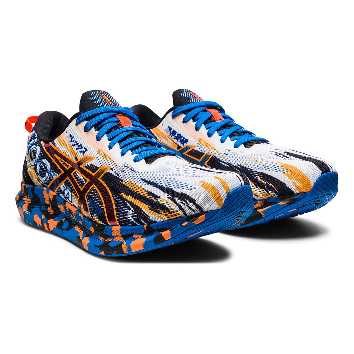 Men's Asics Noosa Tri 13 Running Shoe - Color: White/Shocking - Size: 7 - Width: Regular, White/Shocking, large, image 3