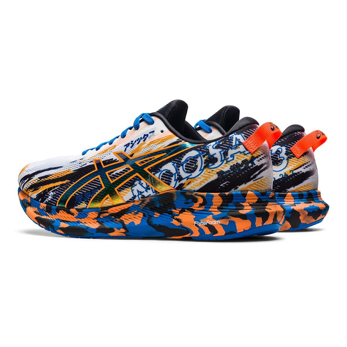 Men's Asics Noosa Tri 13 Running Shoe - Color: White/Shocking - Size: 7 - Width: Regular, White/Shocking, large, image 4