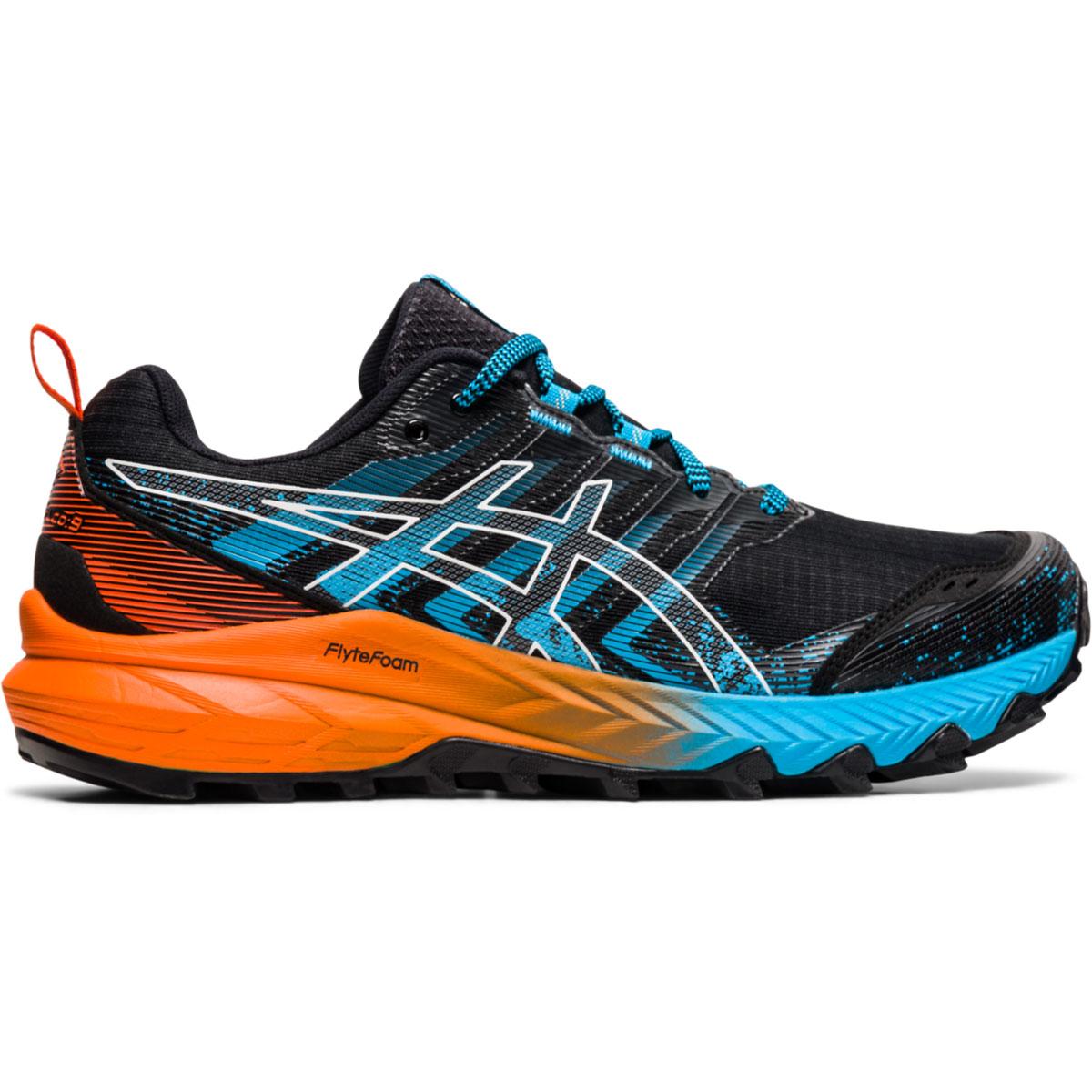 Men's Asics Gel-Trabuco 9 Running Shoe - Color: Orange/Blue/Black - Size: 7 - Width: Regular, Orange/Blue/Black, large, image 1