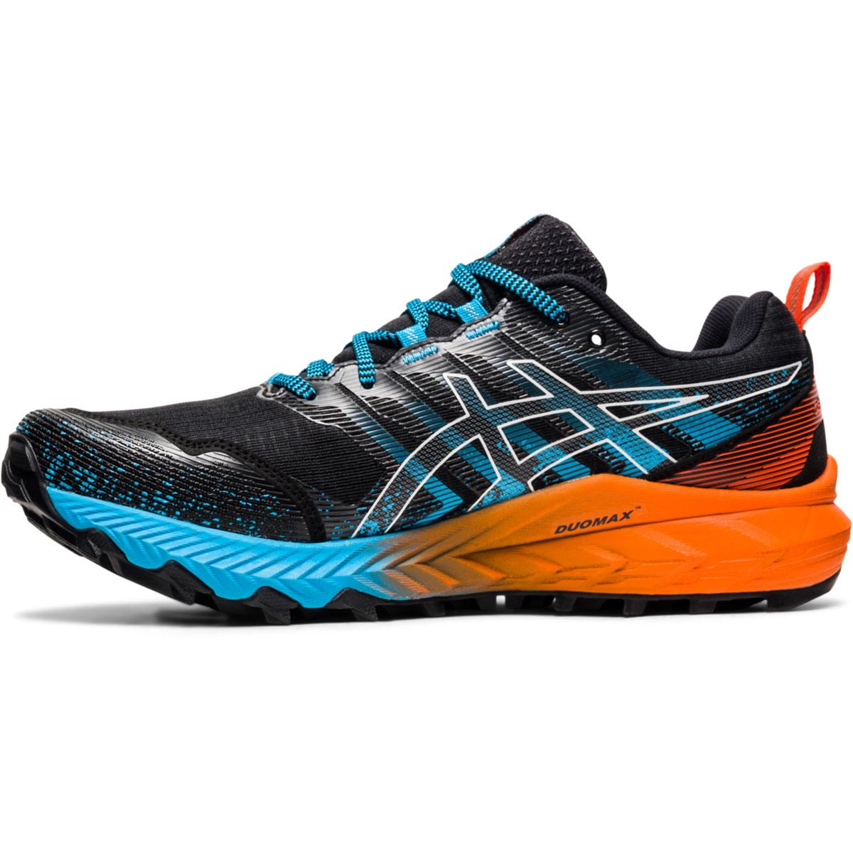 Men's Asics Gel-Trabuco 9 Running Shoe - Color: Orange/Blue/Black - Size: 7 - Width: Regular, Orange/Blue/Black, large, image 2