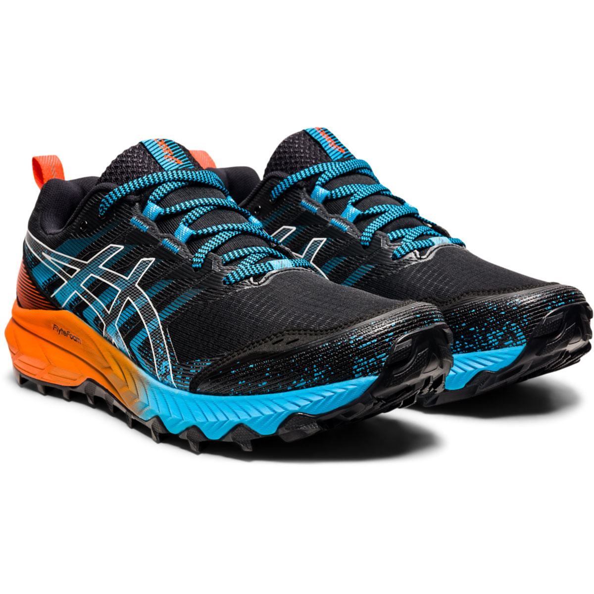 Men's Asics Gel-Trabuco 9 Running Shoe - Color: Orange/Blue/Black - Size: 7 - Width: Regular, Orange/Blue/Black, large, image 4