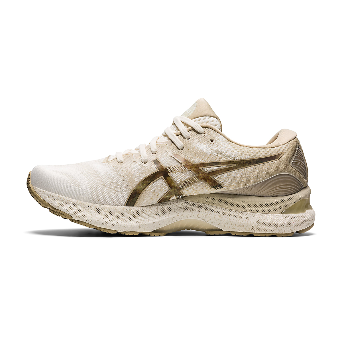 Men's Asics Gel-Nimbus 23 Earth Day Running Shoe - Color: Cream/Putty - Size: 7 - Width: Regular, Cream/Putty, large, image 2