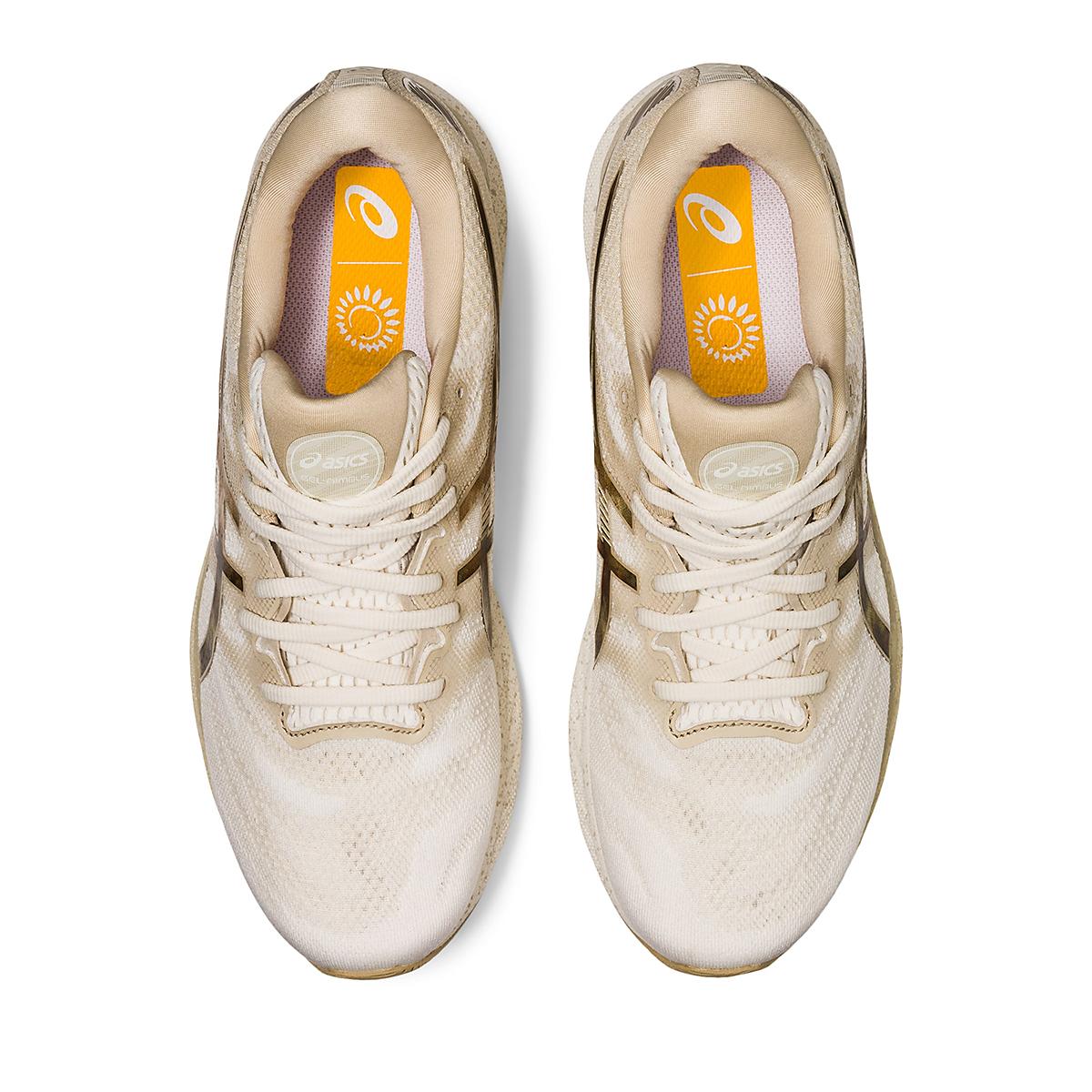 Men's Asics Gel-Nimbus 23 Earth Day Running Shoe - Color: Cream/Putty - Size: 7 - Width: Regular, Cream/Putty, large, image 3