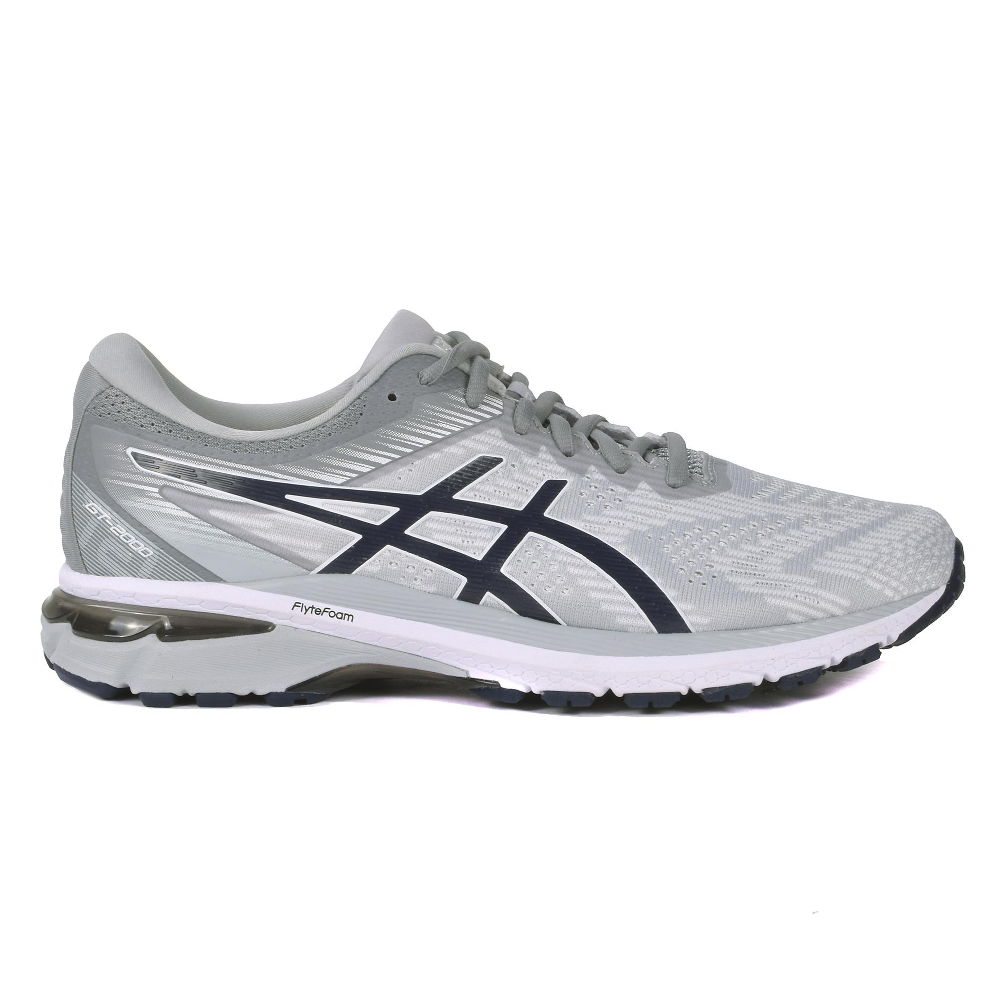 Men's Asics Gt-2000 8 Running Shoe - Color: Piedmont Grey (Regular Width) - Size: 7, Grey, large, image 1
