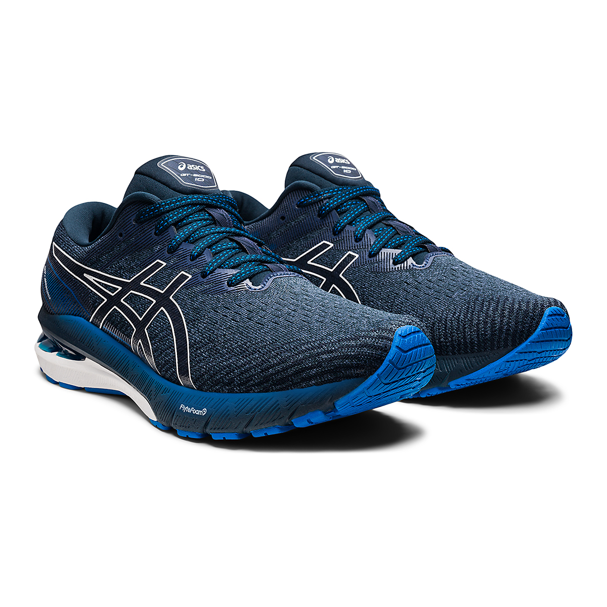 Men's Asics GT-2000 10 Running Shoe - Color: Thunder Blue/French Blue - Size: 7 - Width: Regular, Thunder Blue/French Blue, large, image 3