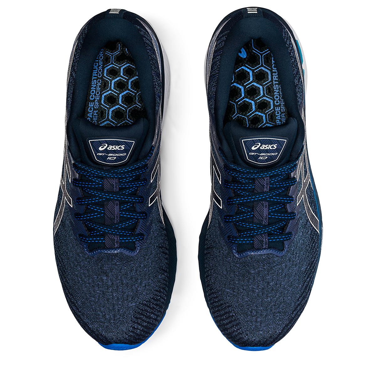 Men's Asics GT-2000 10 Running Shoe - Color: Thunder Blue/French Blue - Size: 7 - Width: Regular, Thunder Blue/French Blue, large, image 6