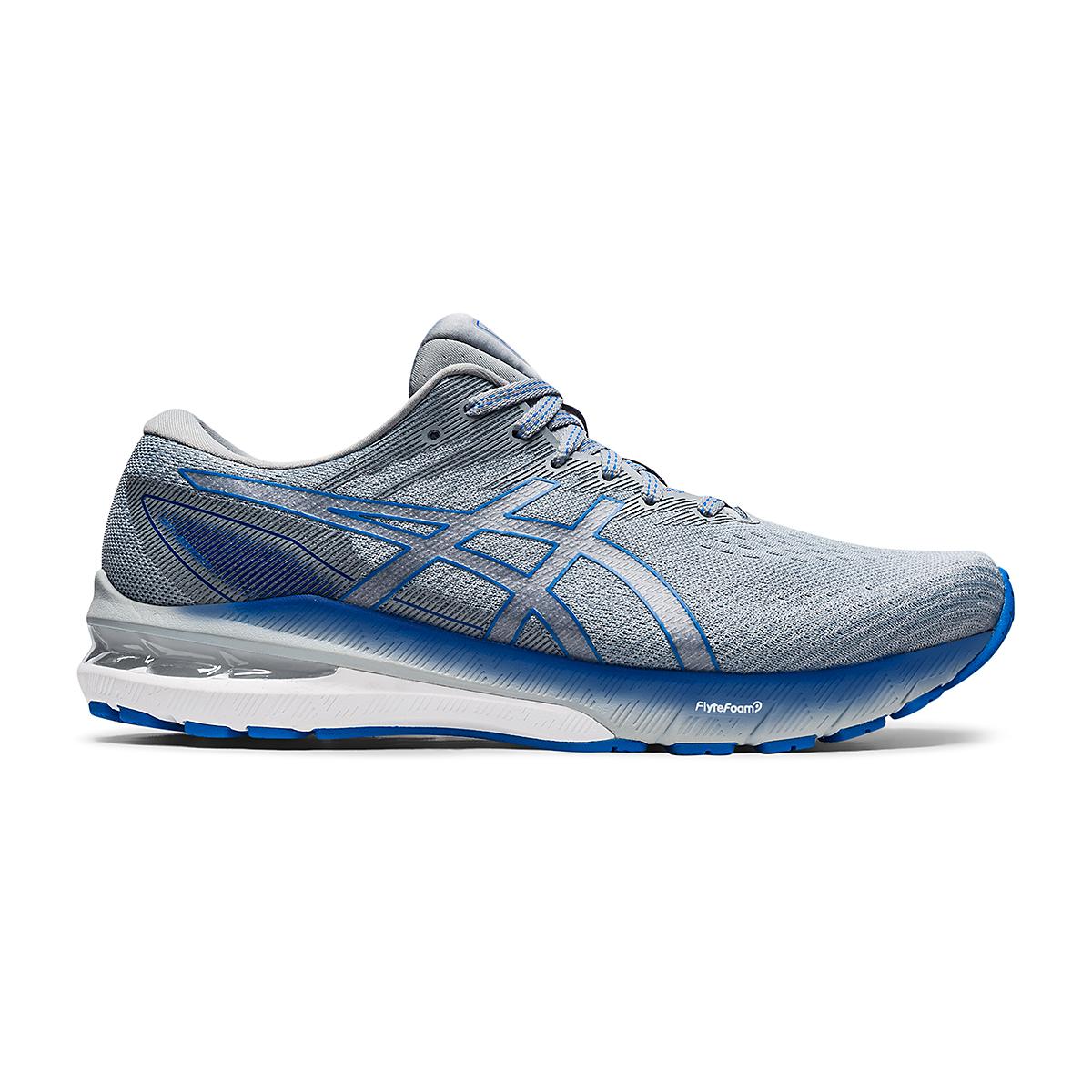 Men's Asics GT-2000 10 Running Shoe - Color: Sheet Rock/Electric Blue - Size: 7 - Width: Wide, Sheet Rock/Electric Blue, large, image 1