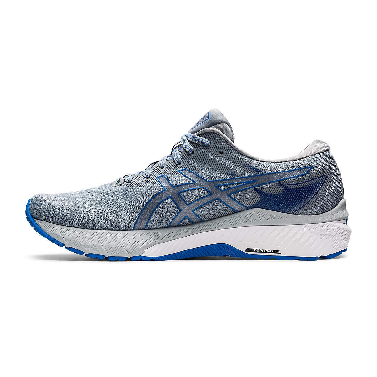 Men's Asics GT-2000 10 Running Shoe - Color: Sheet Rock/Electric Blue - Size: 7 - Width: Wide, Sheet Rock/Electric Blue, large, image 2