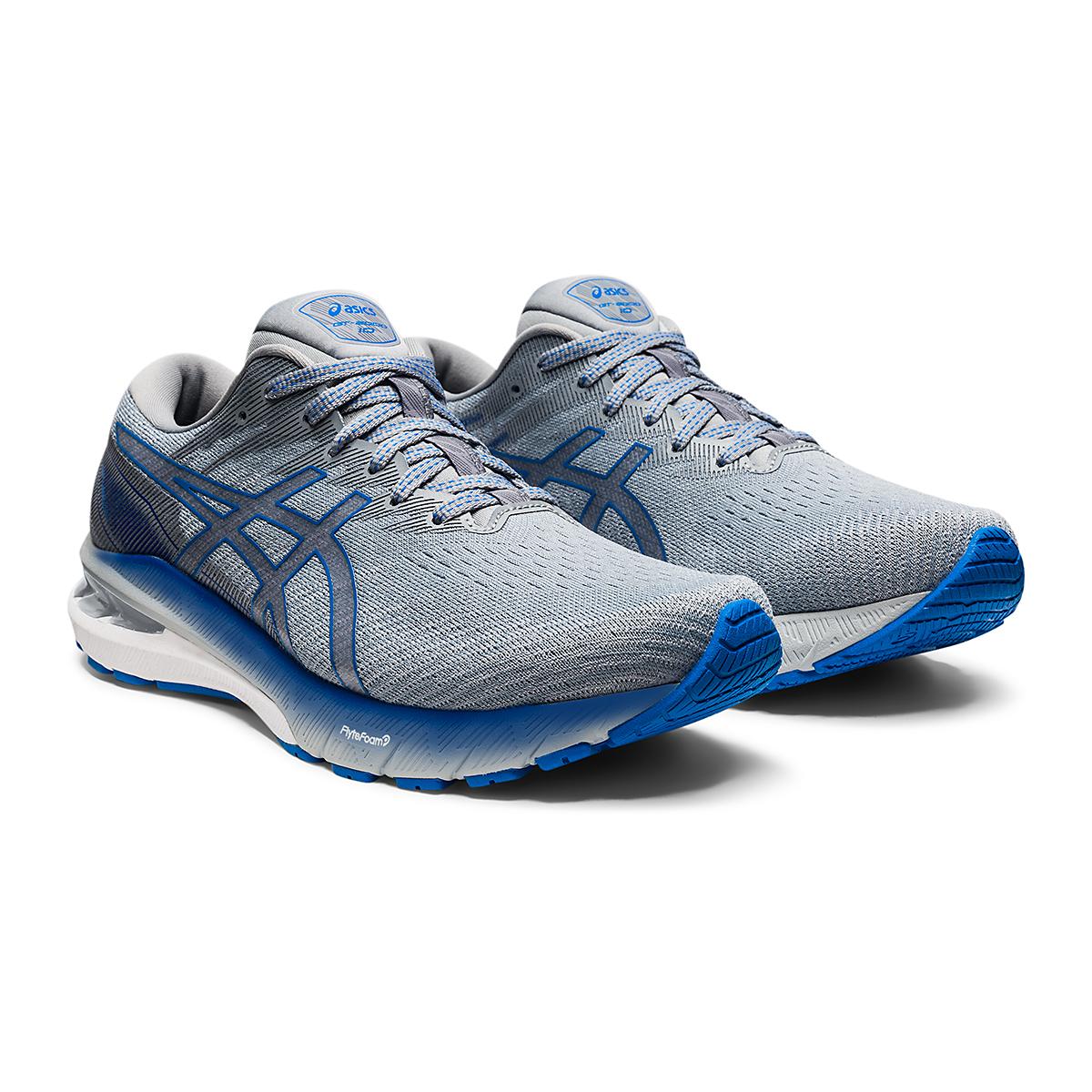 Men's Asics GT-2000 10 Running Shoe - Color: Sheet Rock/Electric Blue - Size: 7 - Width: Wide, Sheet Rock/Electric Blue, large, image 3