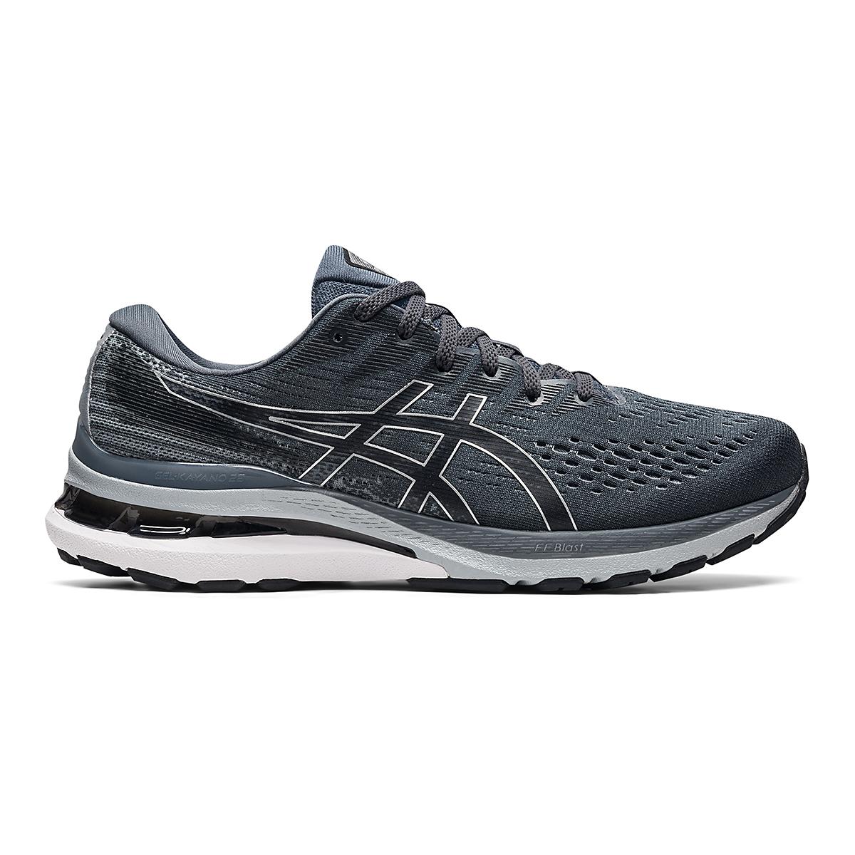 Men's Asics Gel-Kayano 28 Running Shoe - Color: Carrier Grey/Black - Size: 7 - Width: Wide, Carrier Grey/Black, large, image 1