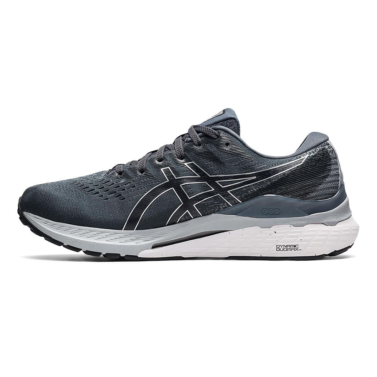 Men's Asics Gel-Kayano 28 Running Shoe - Color: Carrier Grey/Black - Size: 7 - Width: Wide, Carrier Grey/Black, large, image 2