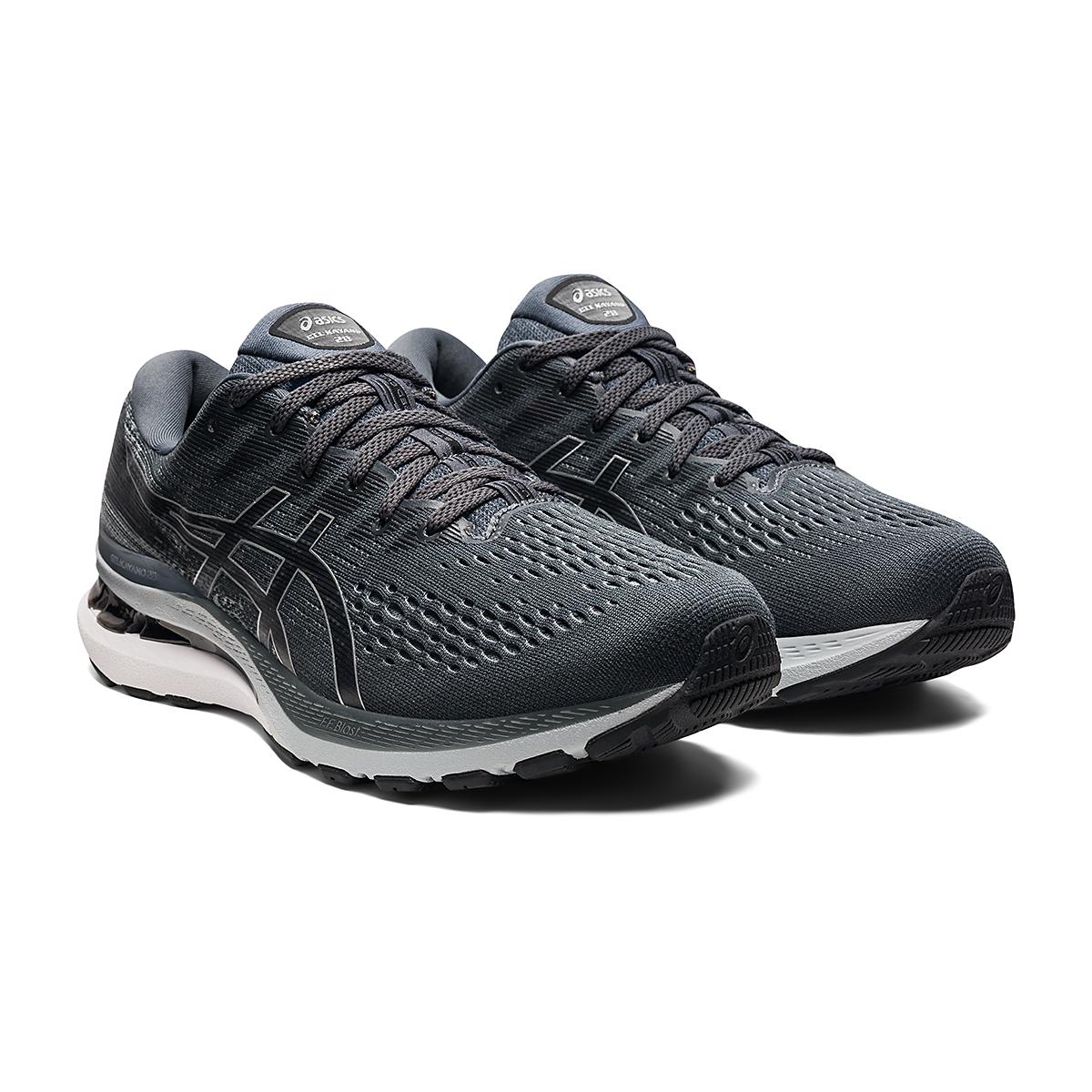 Men's Asics Gel-Kayano 28 Running Shoe - Color: Carrier Grey/Black - Size: 7 - Width: Wide, Carrier Grey/Black, large, image 3