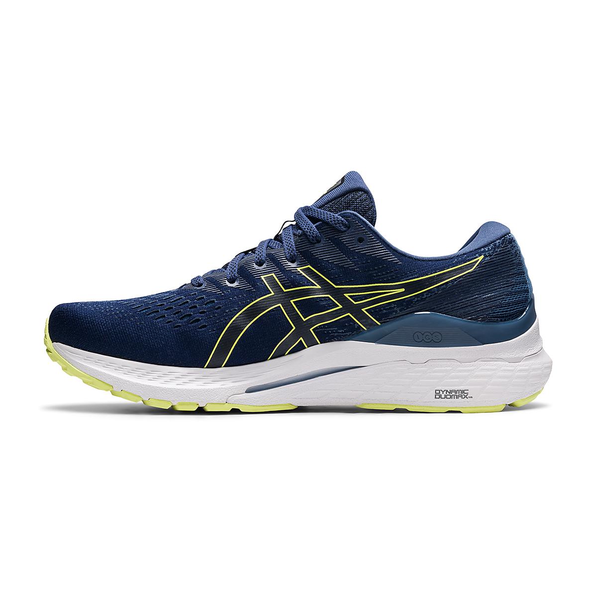 Men's Asics Gel-Kayano 28 Running Shoe - Color: Thunder Blue/Glow Yellow - Size: 7 - Width: Regular, Thunder Blue/Glow Yellow, large, image 2