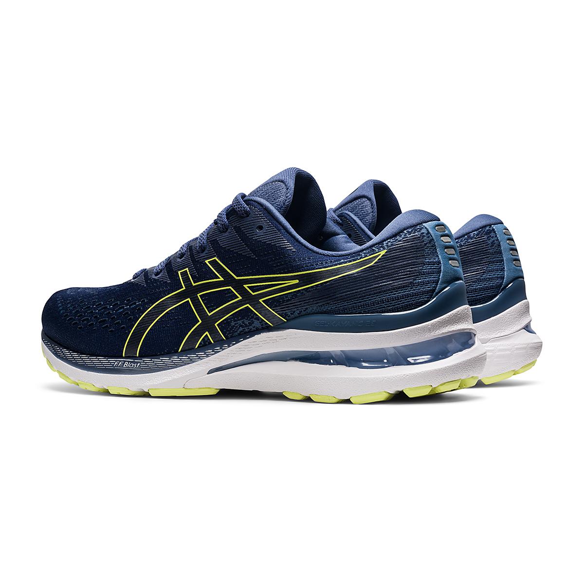 Men's Asics Gel-Kayano 28 Running Shoe - Color: Thunder Blue/Glow Yellow - Size: 7 - Width: Regular, Thunder Blue/Glow Yellow, large, image 4