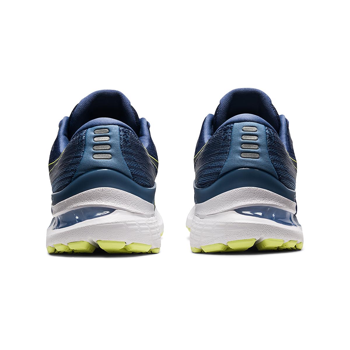 Men's Asics Gel-Kayano 28 Running Shoe - Color: Thunder Blue/Glow Yellow - Size: 7 - Width: Regular, Thunder Blue/Glow Yellow, large, image 5