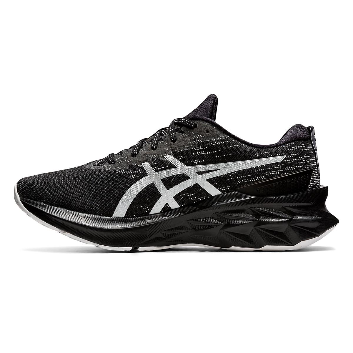 Men's Asics Novablast 2 Running Shoe - Color: Black/Pure Silver - Size: 6 - Width: Regular, Black/Pure Silver, large, image 2