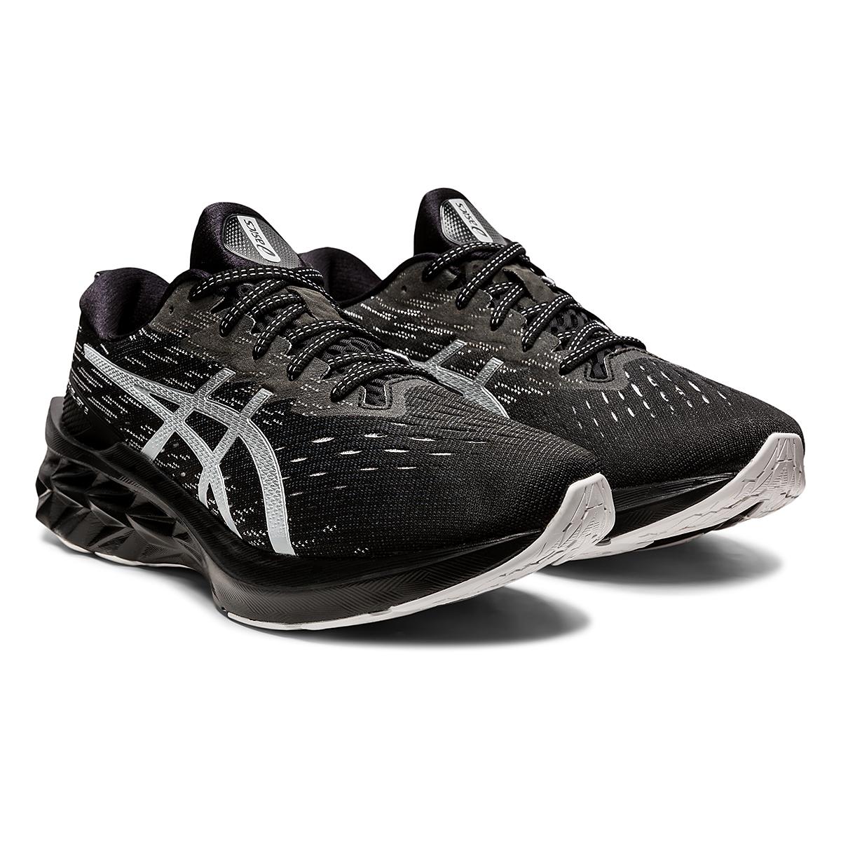 Men's Asics Novablast 2 Running Shoe - Color: Black/Pure Silver - Size: 6 - Width: Regular, Black/Pure Silver, large, image 3