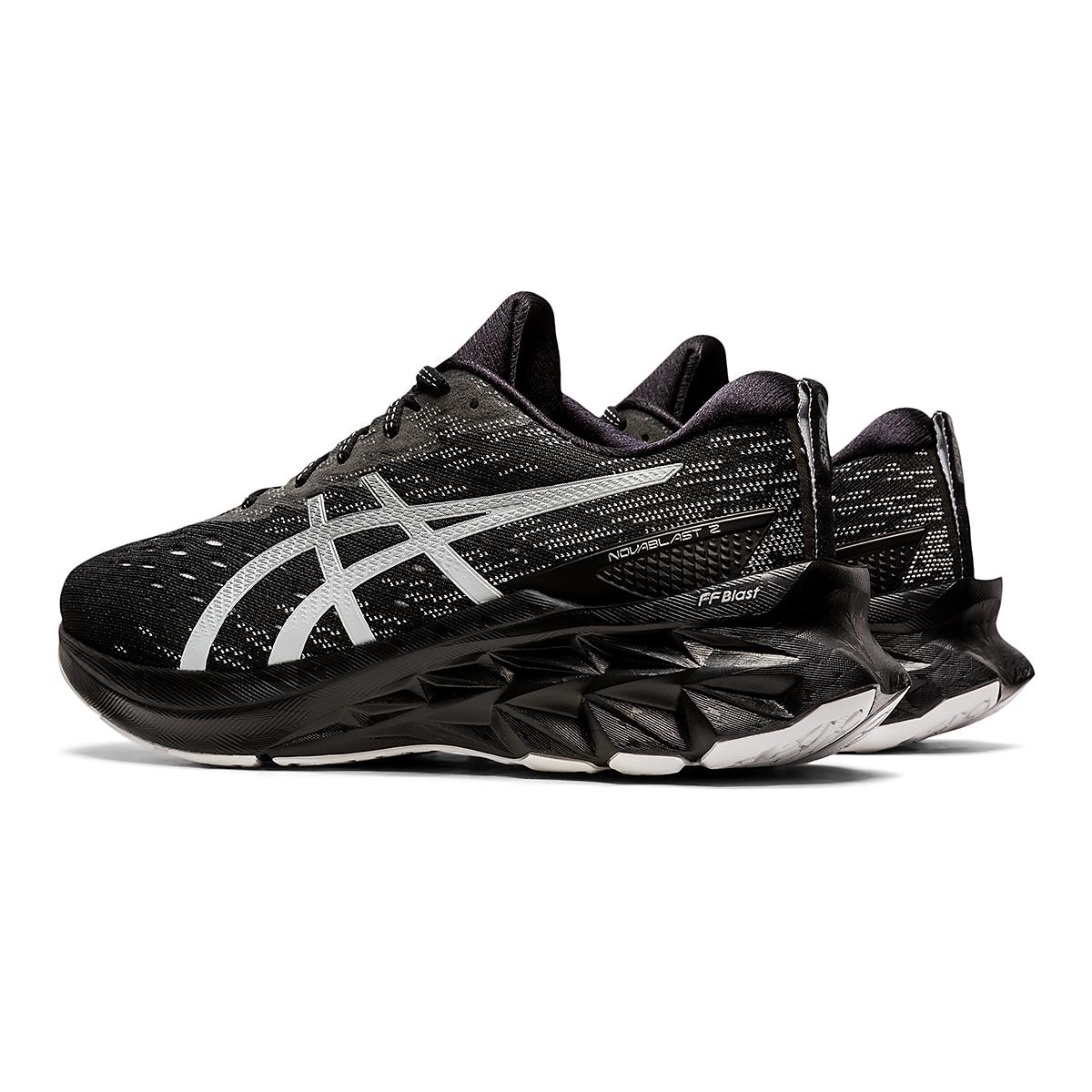 Men's Asics Novablast 2 Running Shoe - Color: Black/Pure Silver - Size: 6 - Width: Regular, Black/Pure Silver, large, image 4