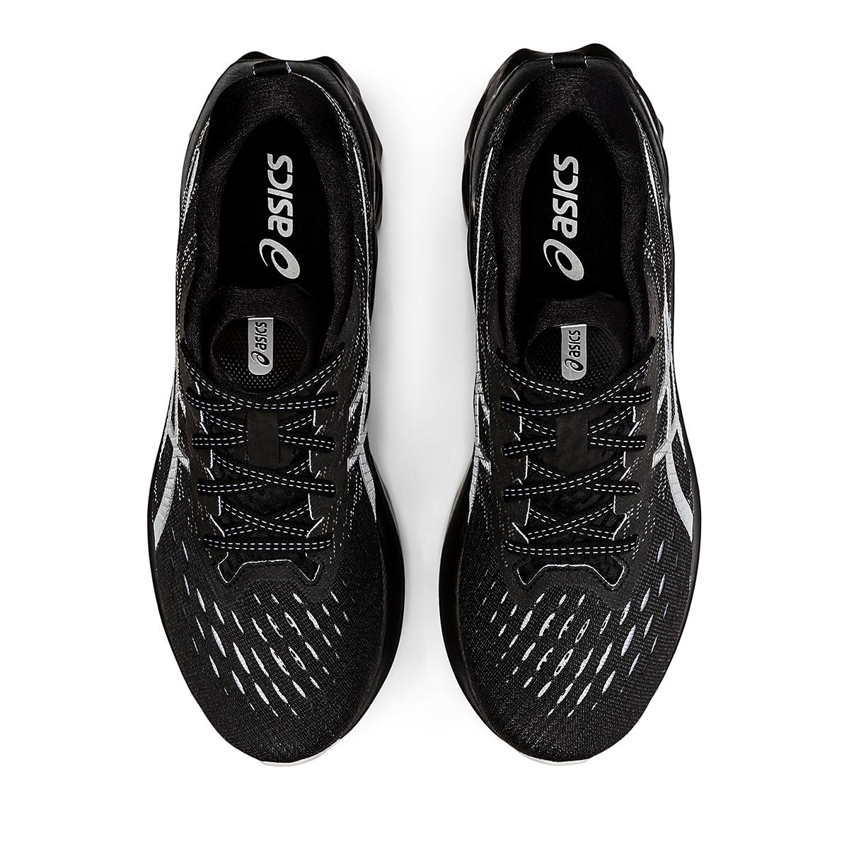 Men's Asics Novablast 2 Running Shoe - Color: Black/Pure Silver - Size: 6 - Width: Regular, Black/Pure Silver, large, image 5